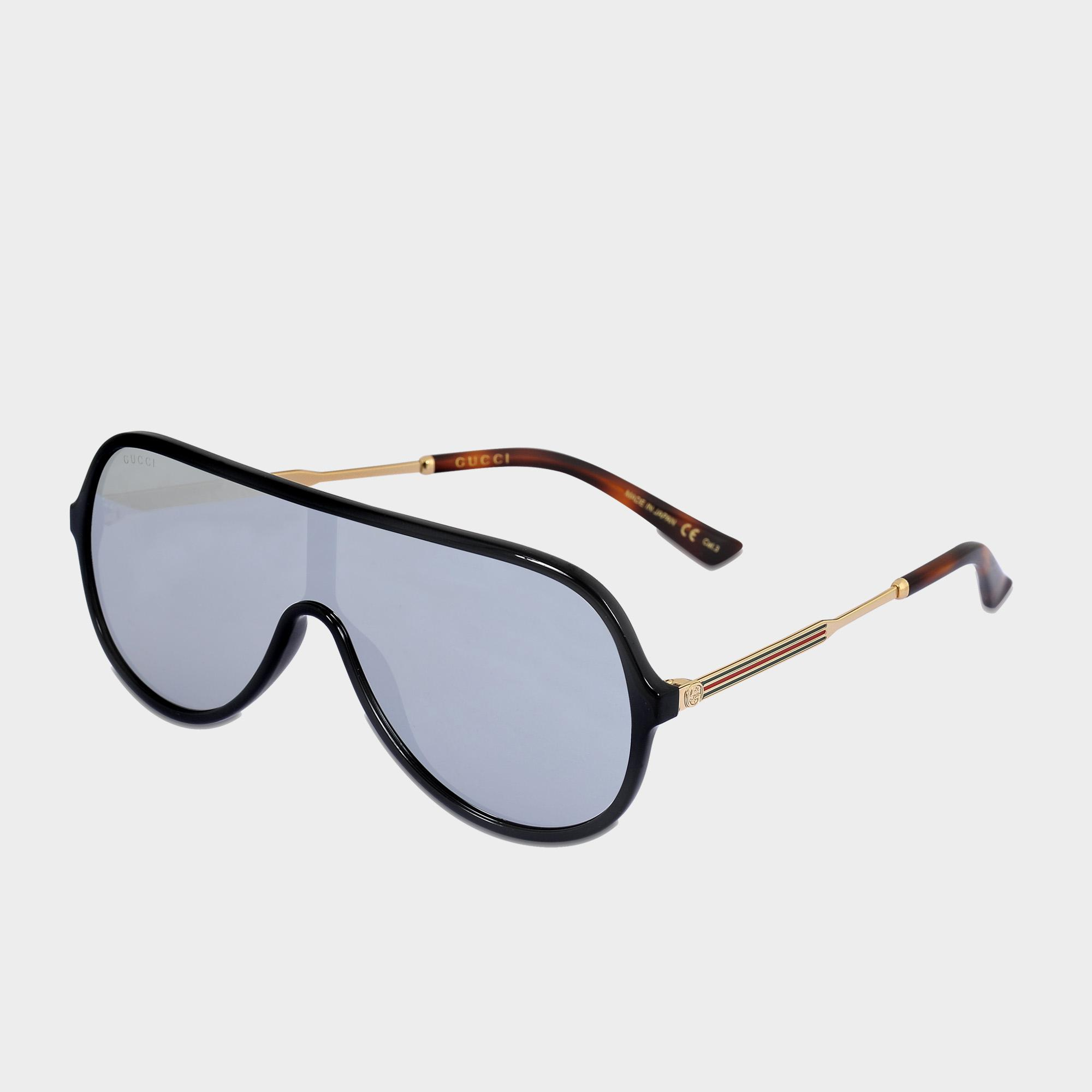 17da859392 Gucci Aviator Sunglasses In Shiny Endura Gold-havana Injection - Lyst