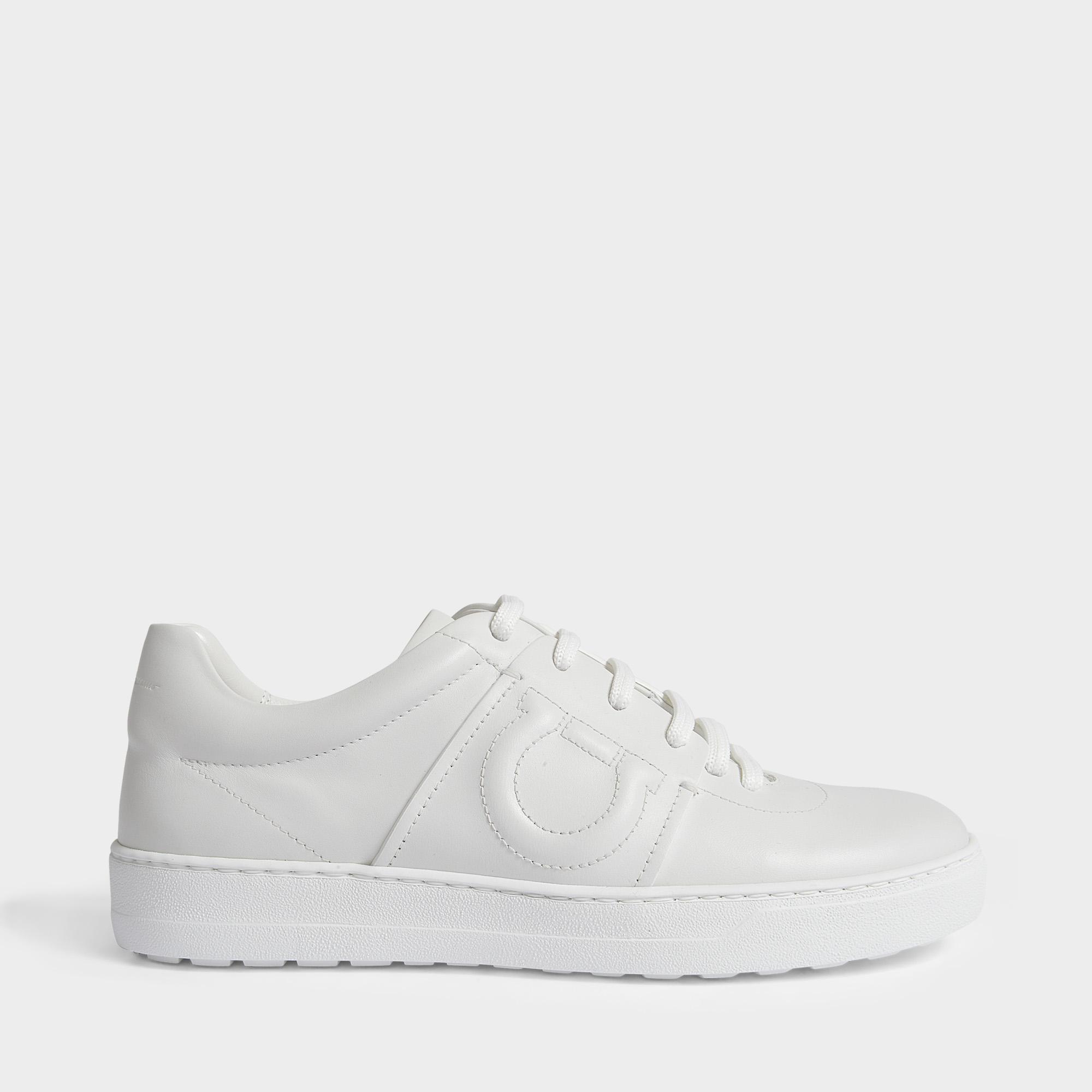 d1b5f66d98 Ferragamo Fasano Sneakers In White Nimes Leather in White - Lyst
