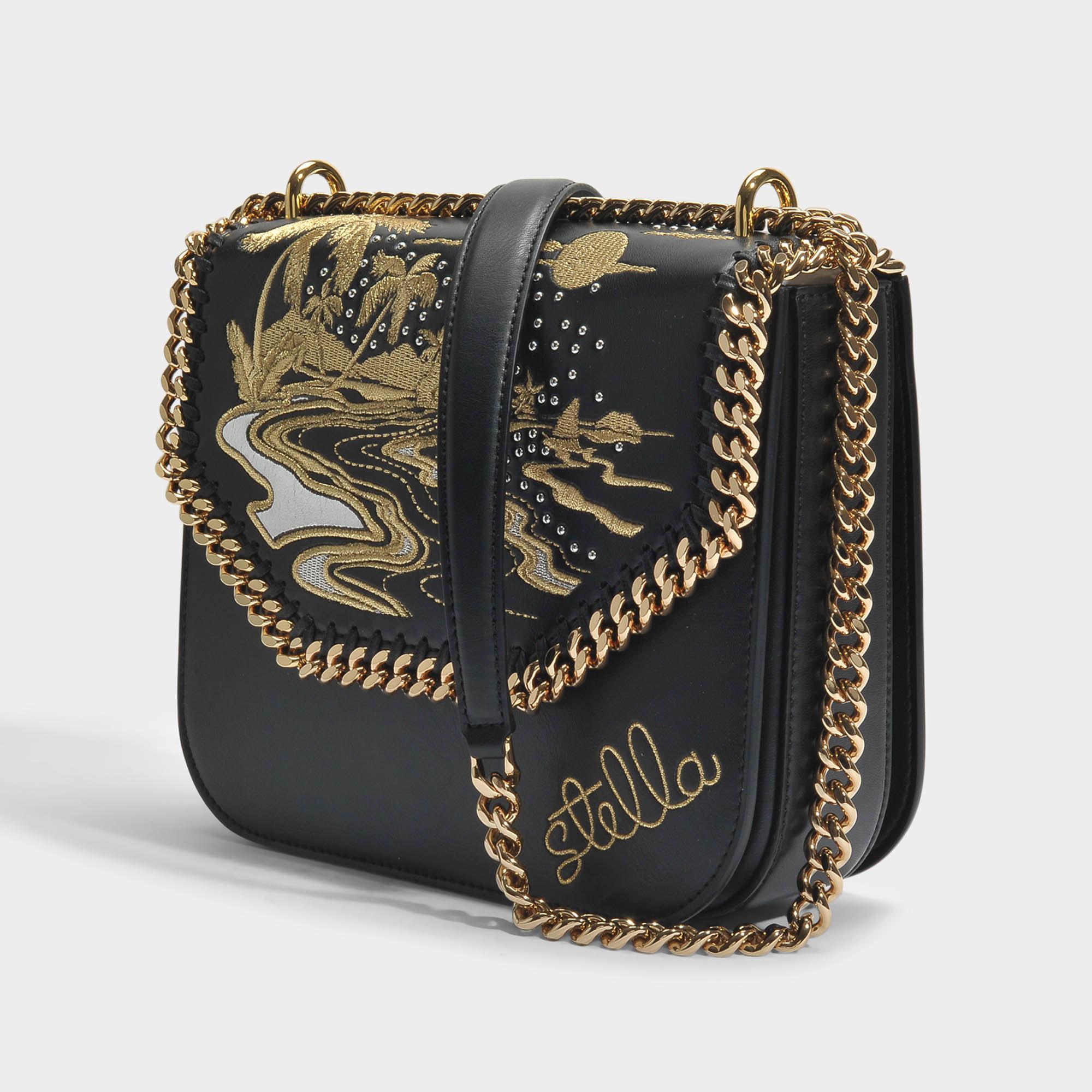 afaa909df4 Lyst - Stella McCartney Hawaiian Embroidery Falabella Box Shoulder ...