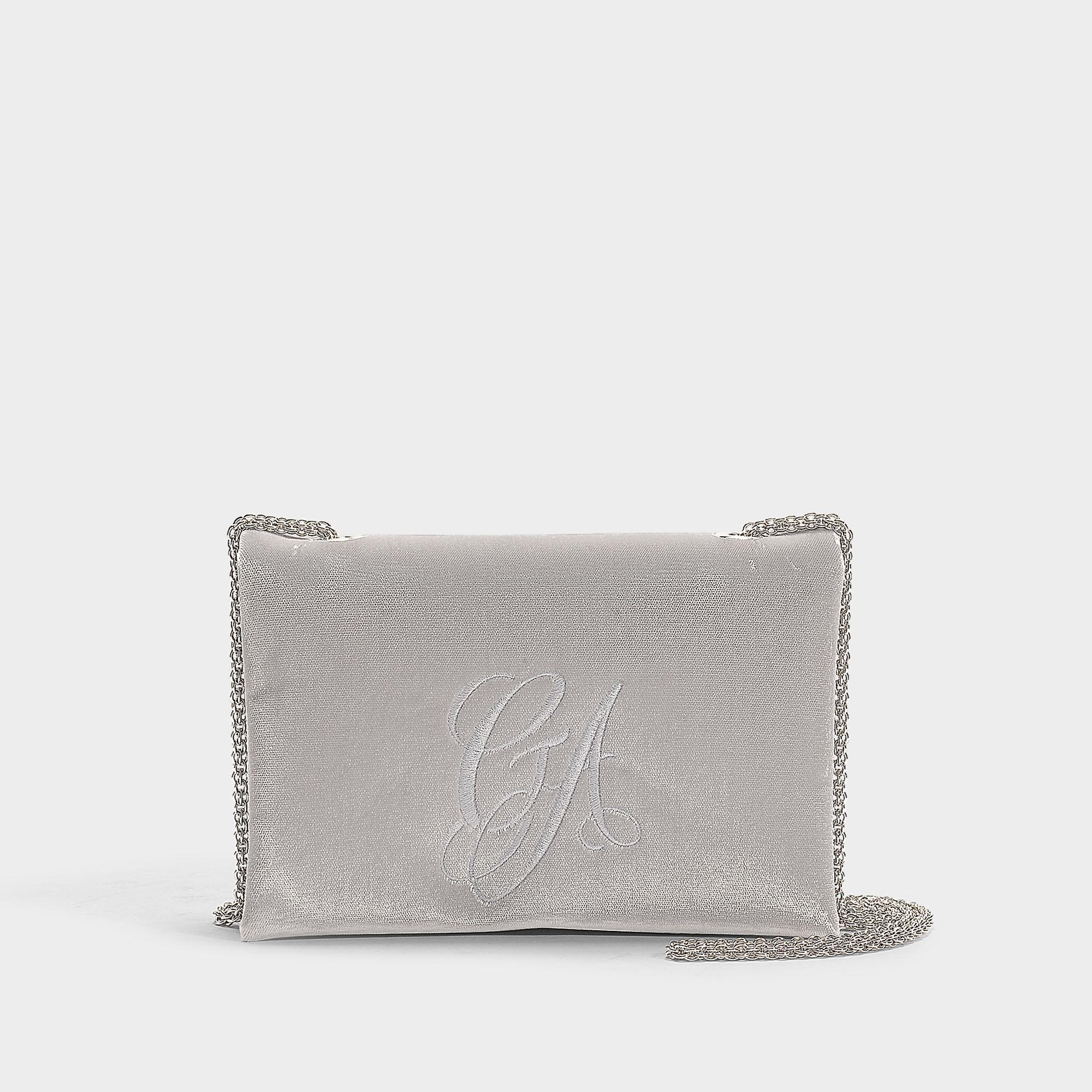 Lyst - Giorgio Armani Sling Bag In Grey Cotton in Gray - Save ... b1ecc54085