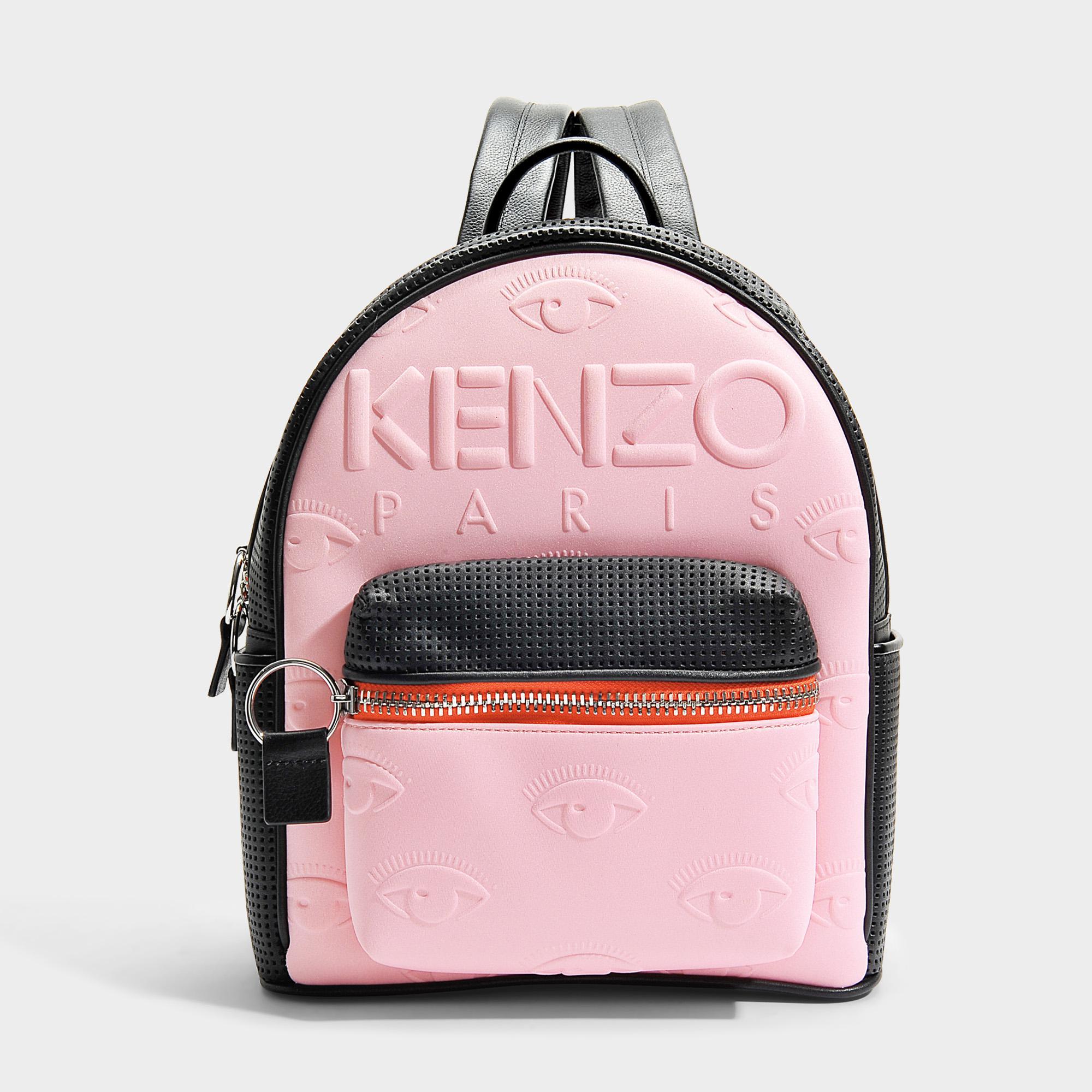 9b55a74e9 KENZO Kombo Backpack In Flamingo Pink Neoprene And Mesh - Lyst