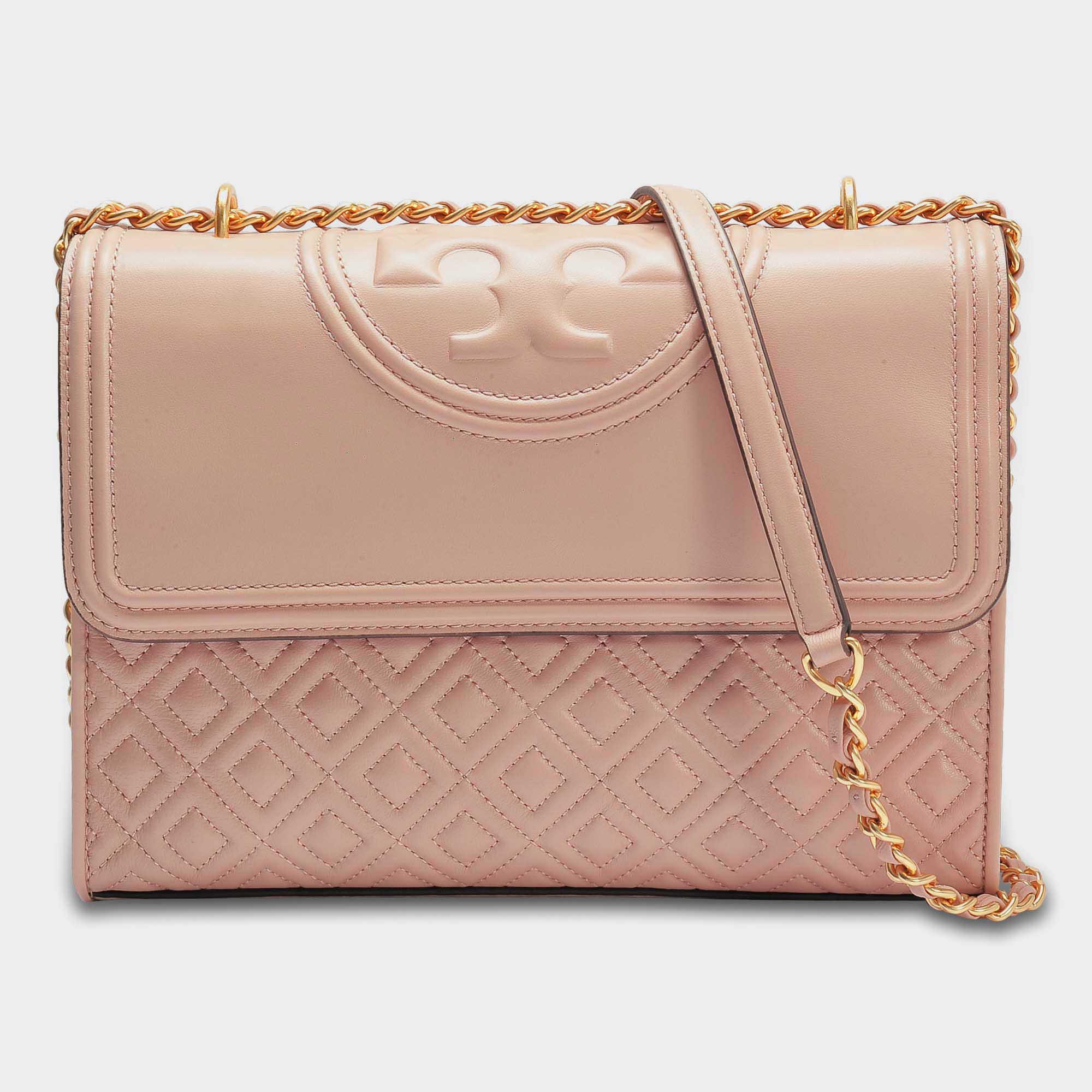 480169c520c Tory Burch Fleming Convertible Shoulder Bag In Mink Lambskin Leather ...