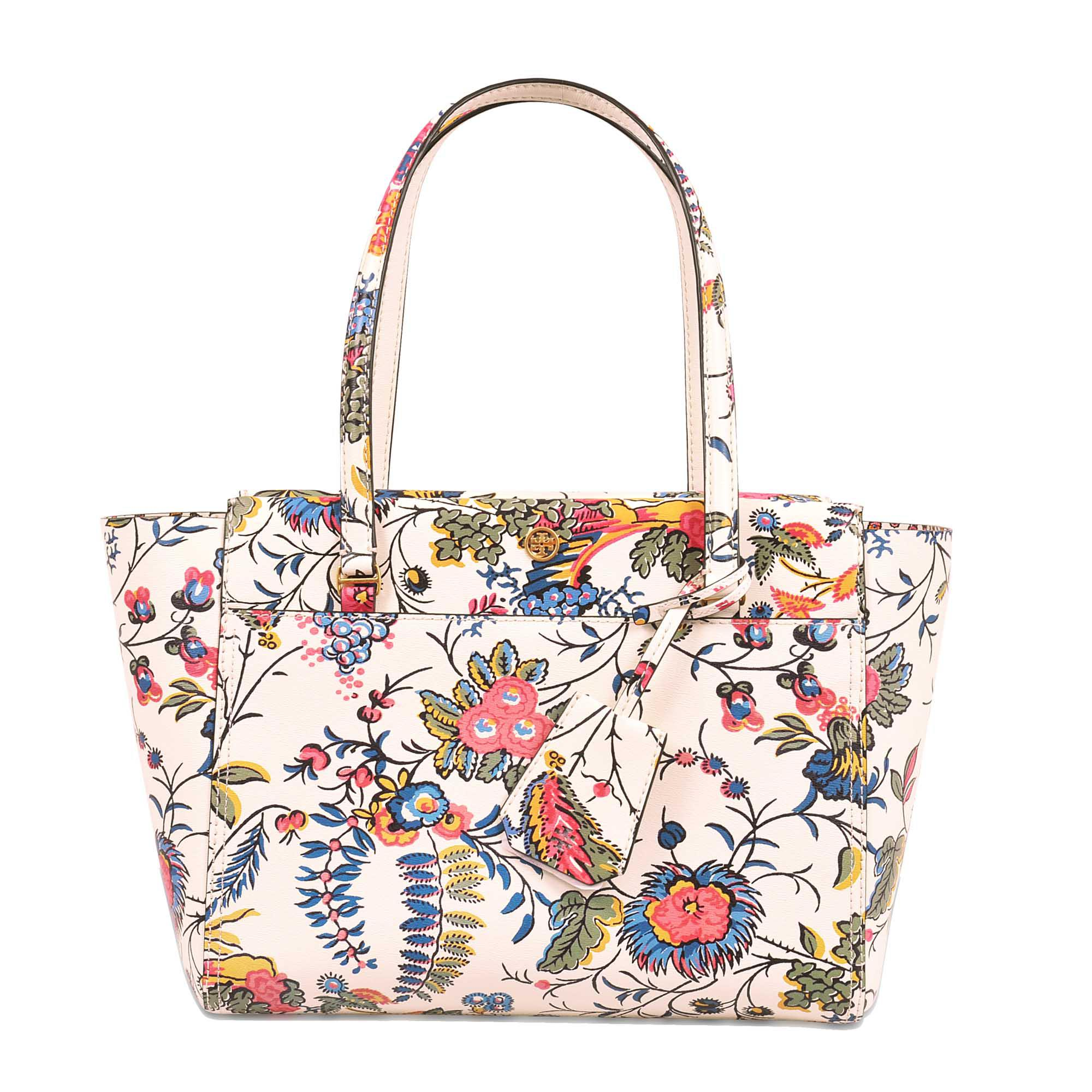 ffaaaf2d9a8 Lyst - Tory Burch Parker Small Floral-print Tote Bag