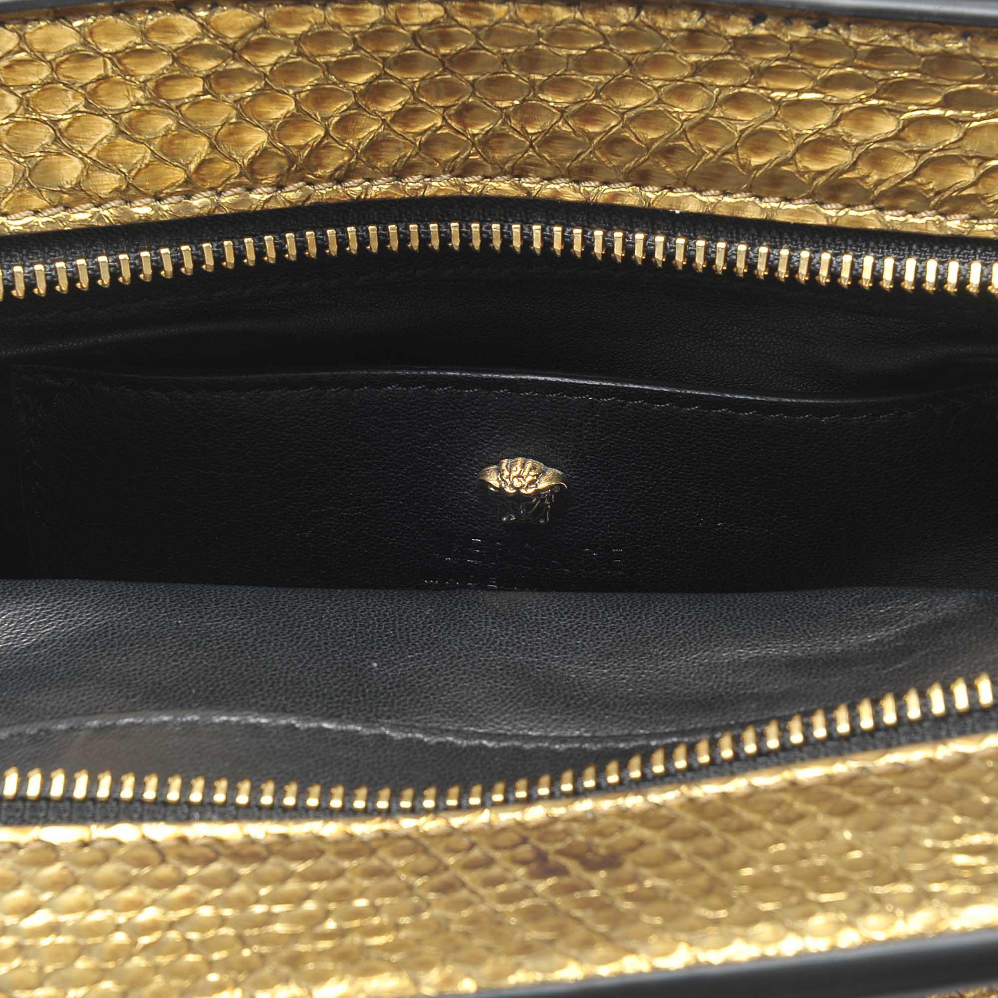 Versace Empire Palazzo Mini-sac En Or Watersnake 0Dn2UK