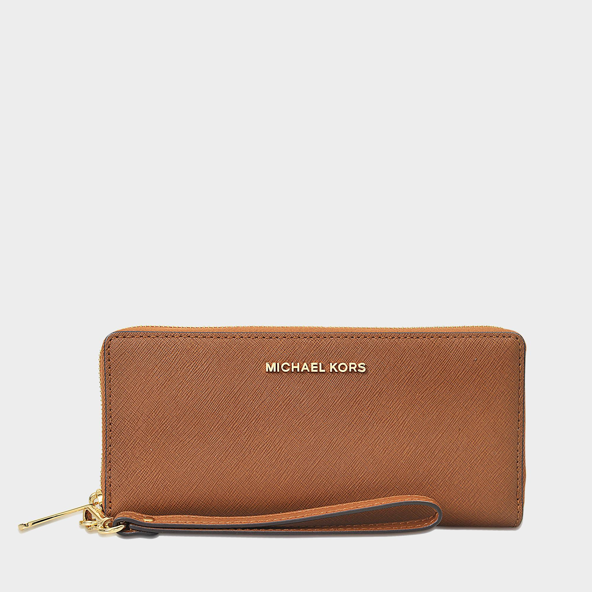 50f334ddaee62f Lyst - MICHAEL Michael Kors Jet Set Travel Continental Wallet in Brown