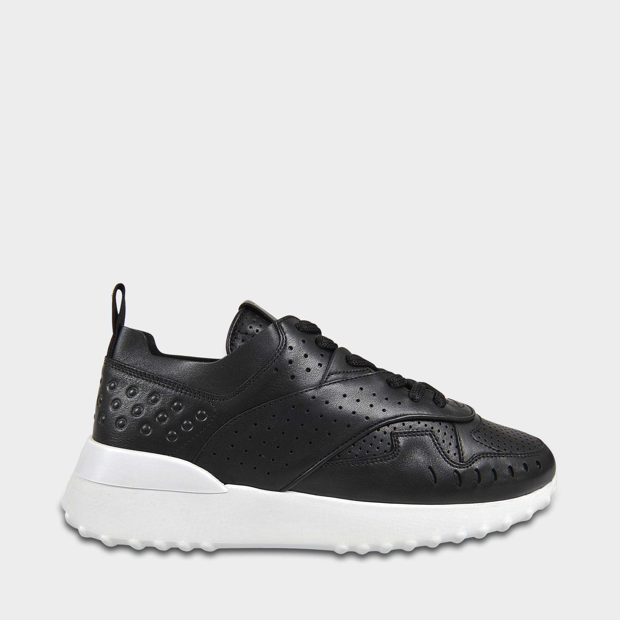 Le Sportivo Tod Perforé Chaussures En Veau Noir 5ESx18nnd