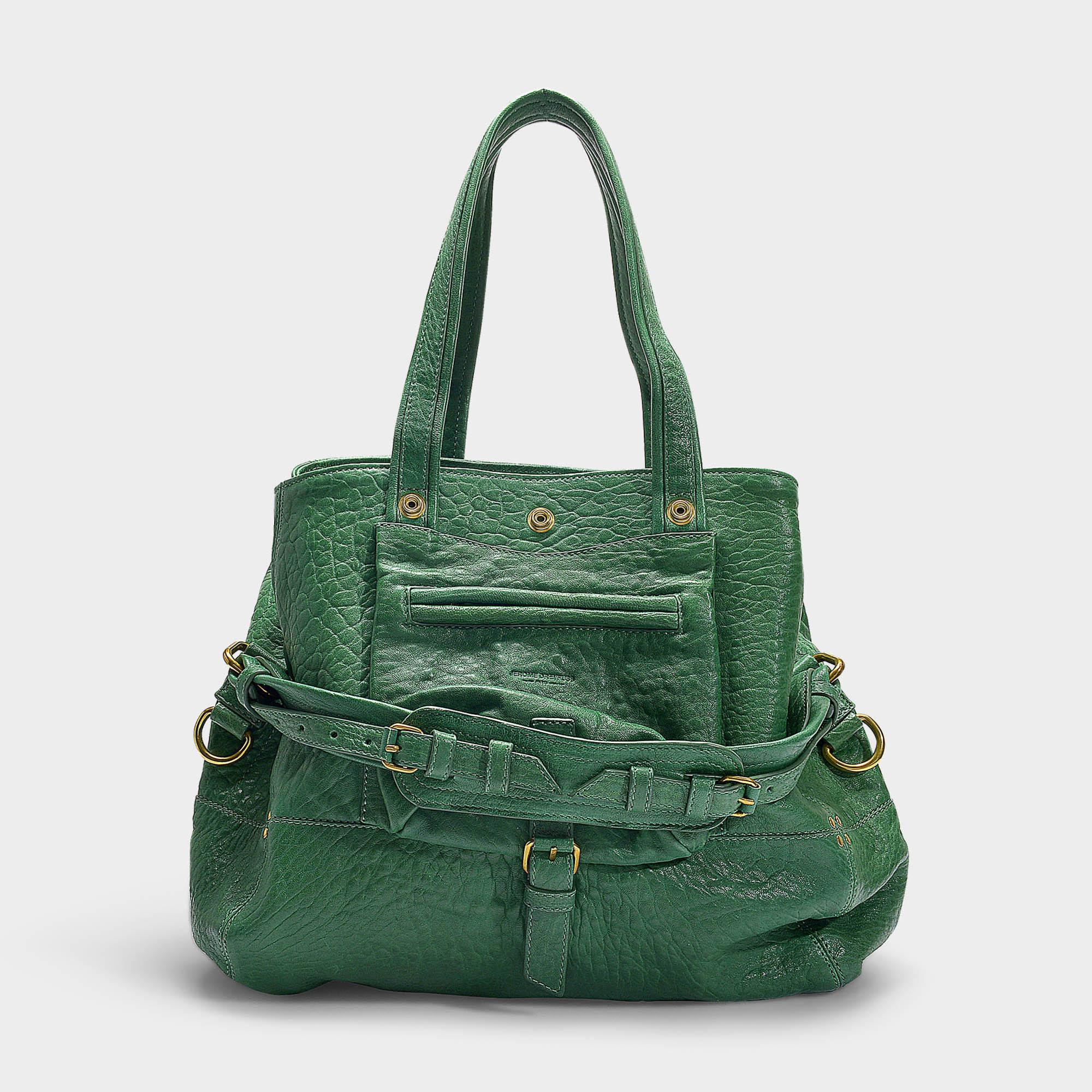 c07c80abb9 Lyst - Jérôme Dreyfuss Billy M Bag In Green Bubble Lambskin in Green ...