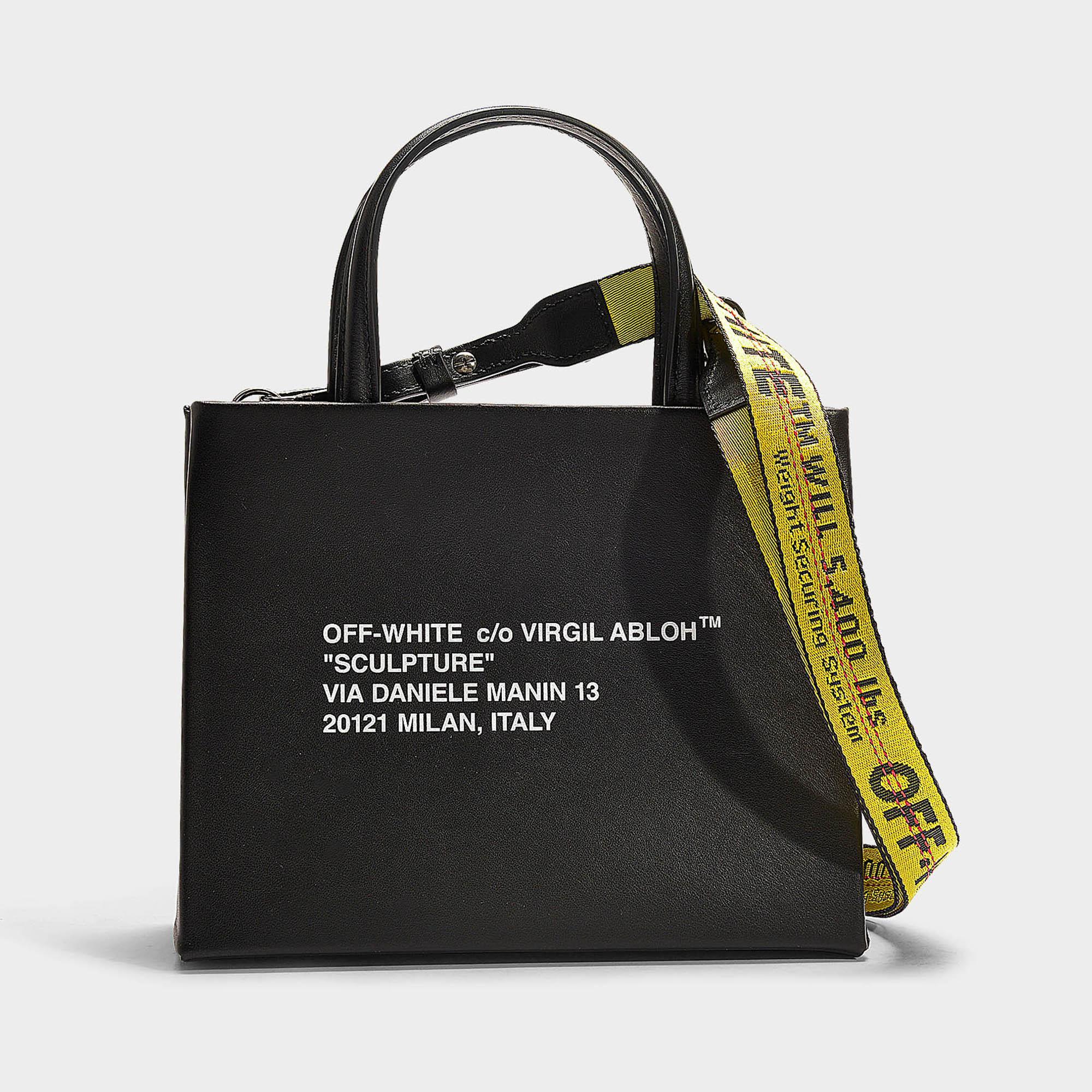 Petit sac à main box en cuir de veau noir et blanc Off White co Virgil Abloh en coloris Black