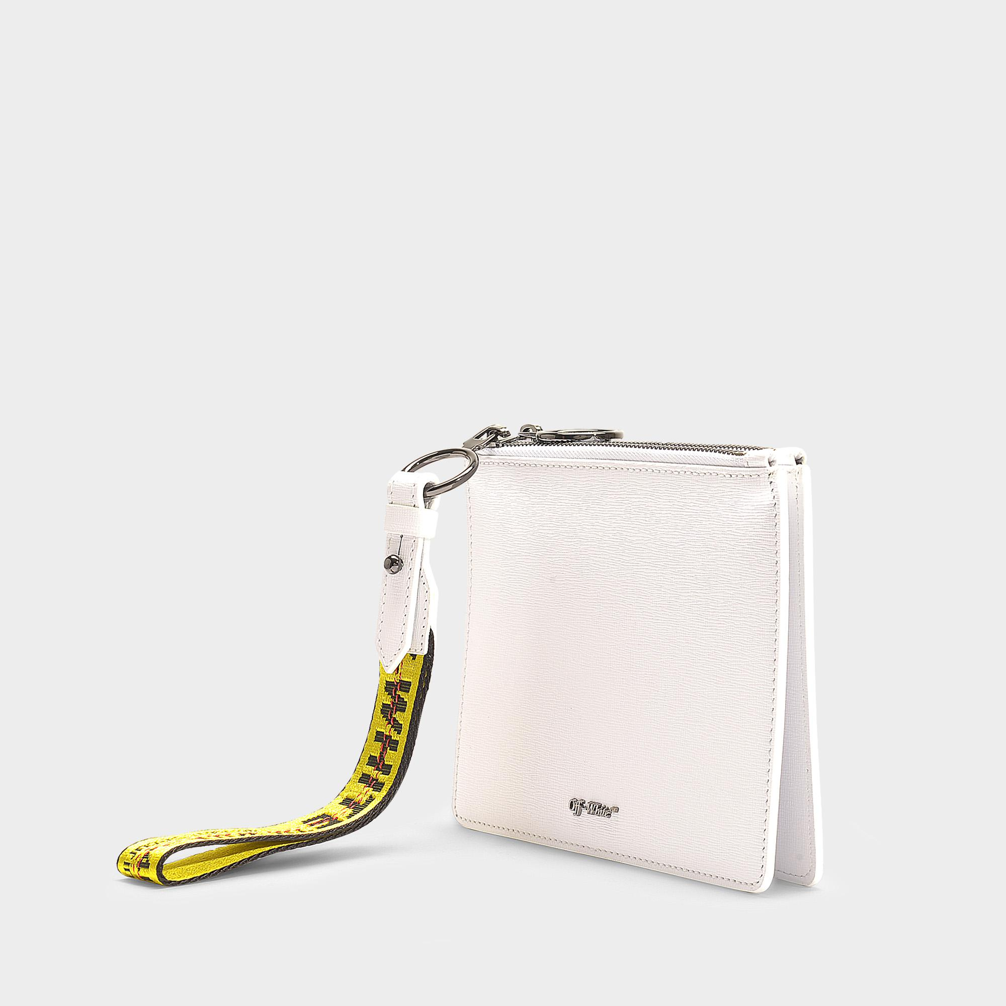 480246690df Lyst - Off-White c o Virgil Abloh Diag Double Flat Pouch In White ...