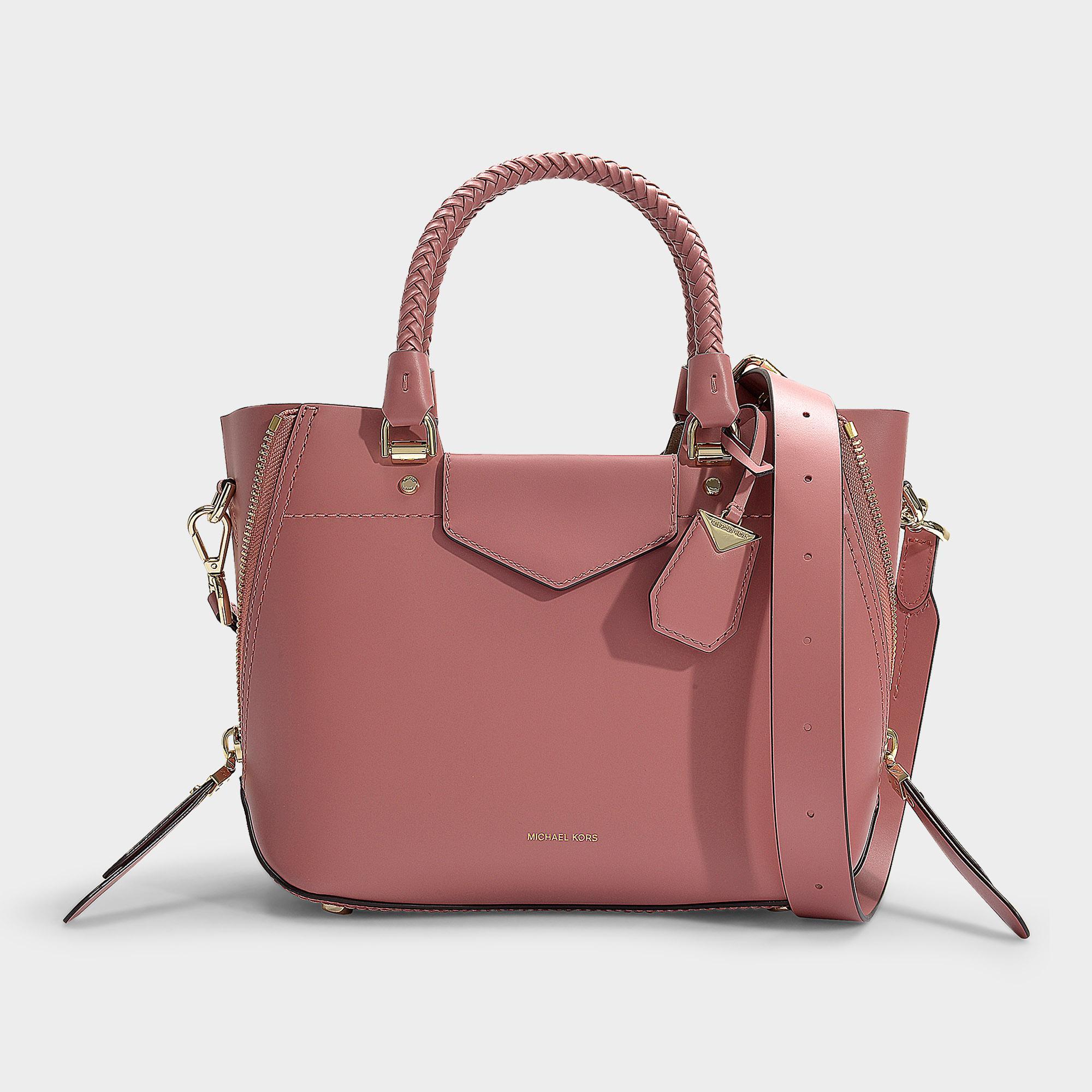 0a480d31cdd972 MICHAEL Michael Kors Blakely Medium Messenger Bag In Rose Calfskin ...