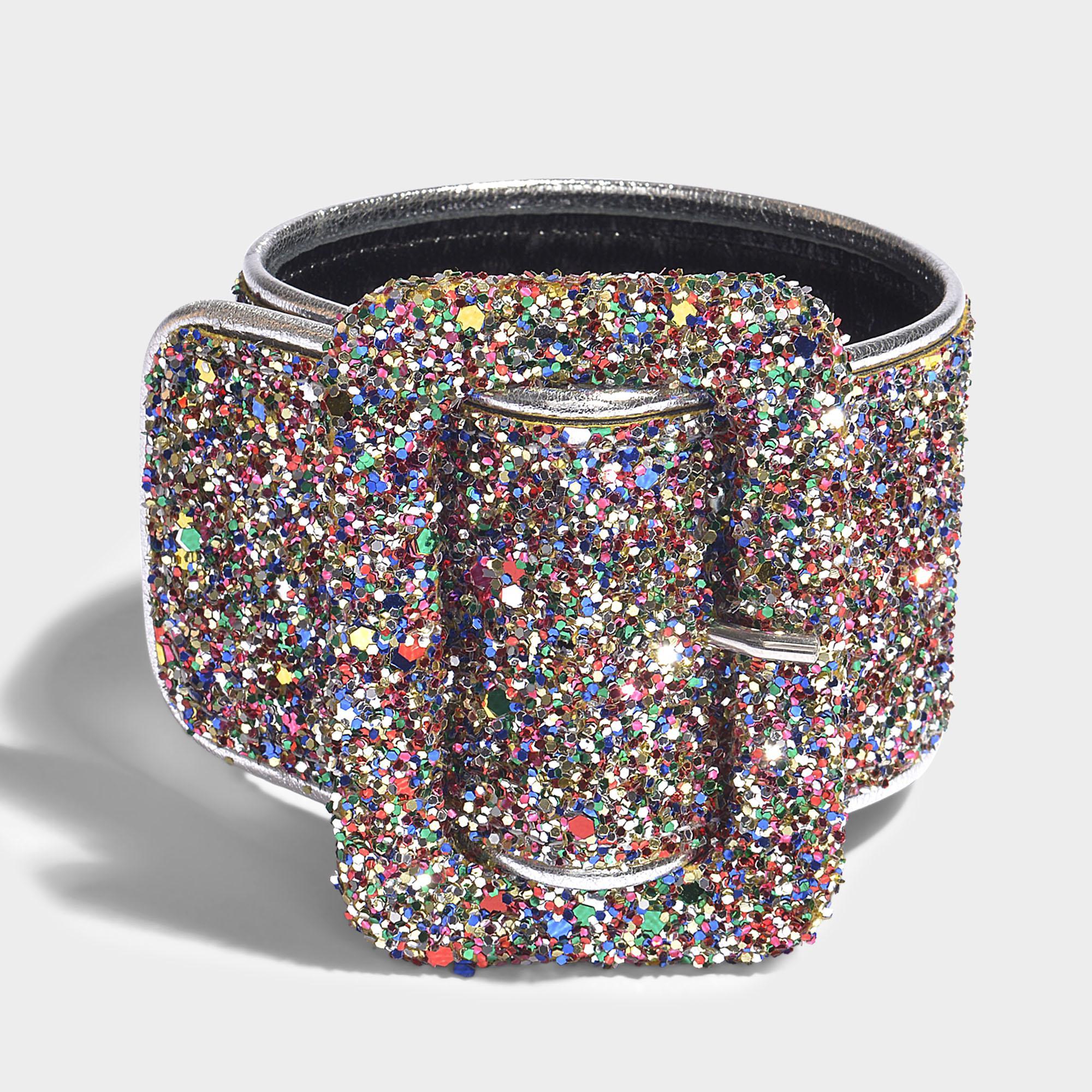 Anklet in Multicolor Glitter Leather Attico TJ7tr