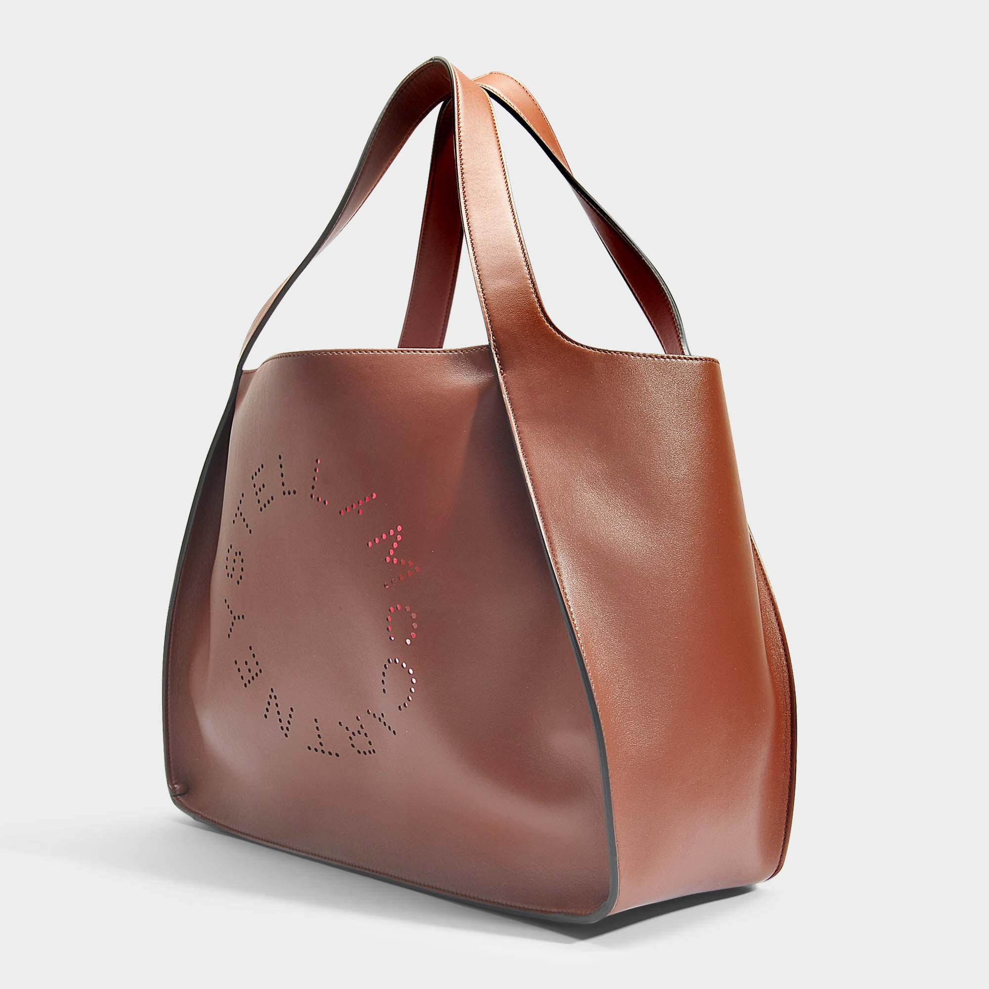 Alter Nappa Stella Logo Tote Bag in Pecan Eco Fabric Stella McCartney 05dOJIEhG