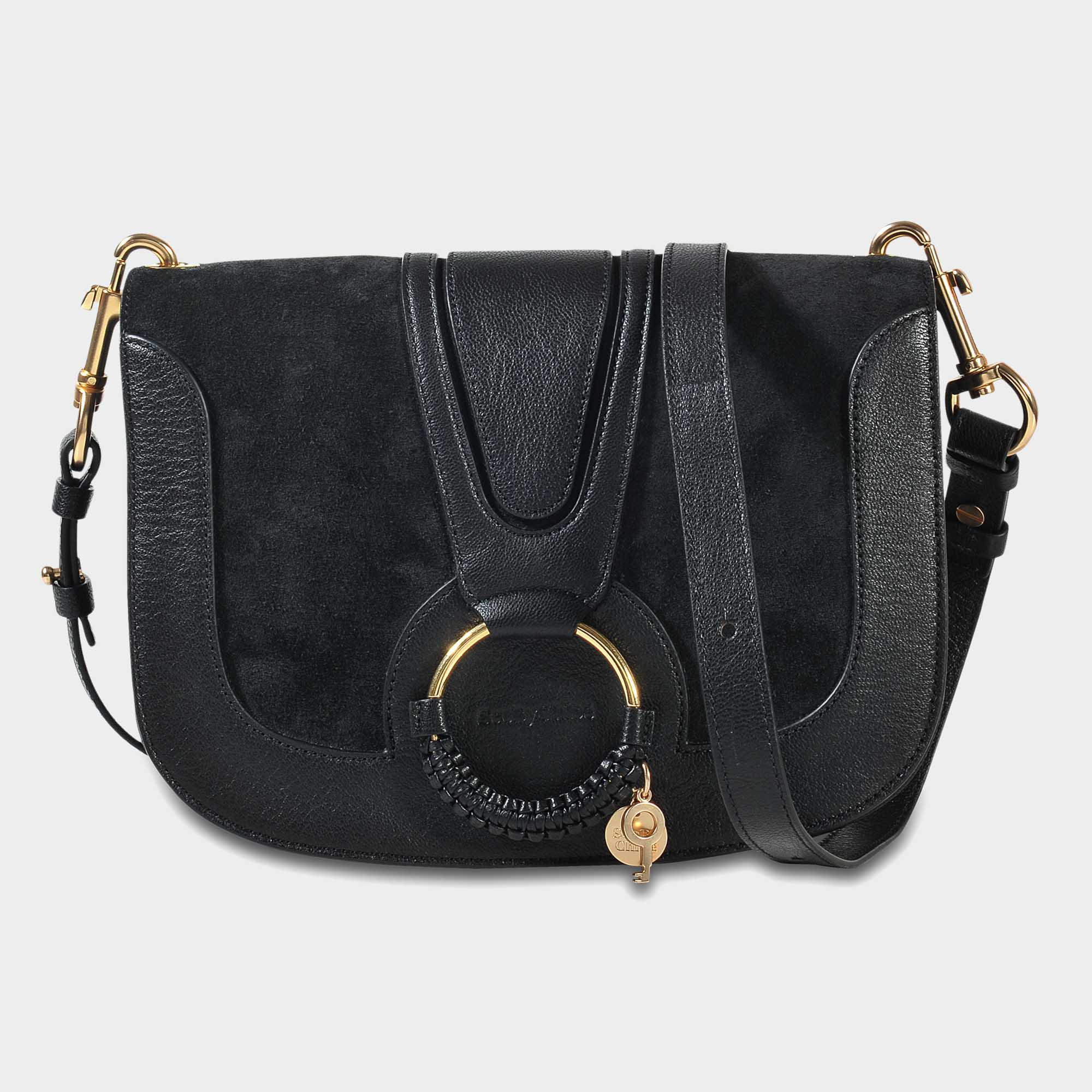 Kriss Medium Crossbody Bag in Black Grained Cowskin and Suede See By Chloé Buy Cheap For Sale Outlet Clearance Store Cheap Professional Clearance Amazon RaByjSpG