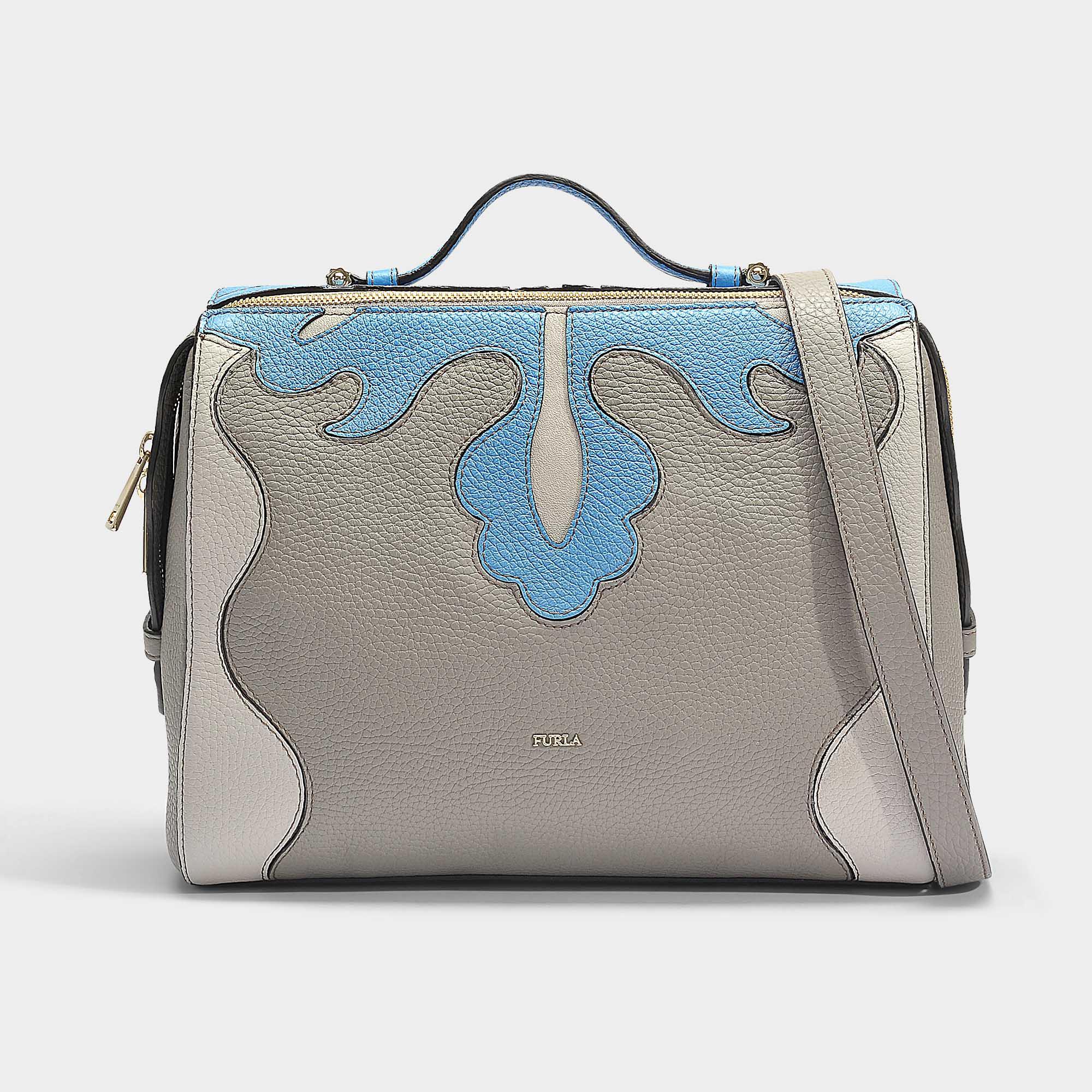 f6158fd94 Furla Dalia Medium Top Handle Bag In Sand Calfskin - Lyst