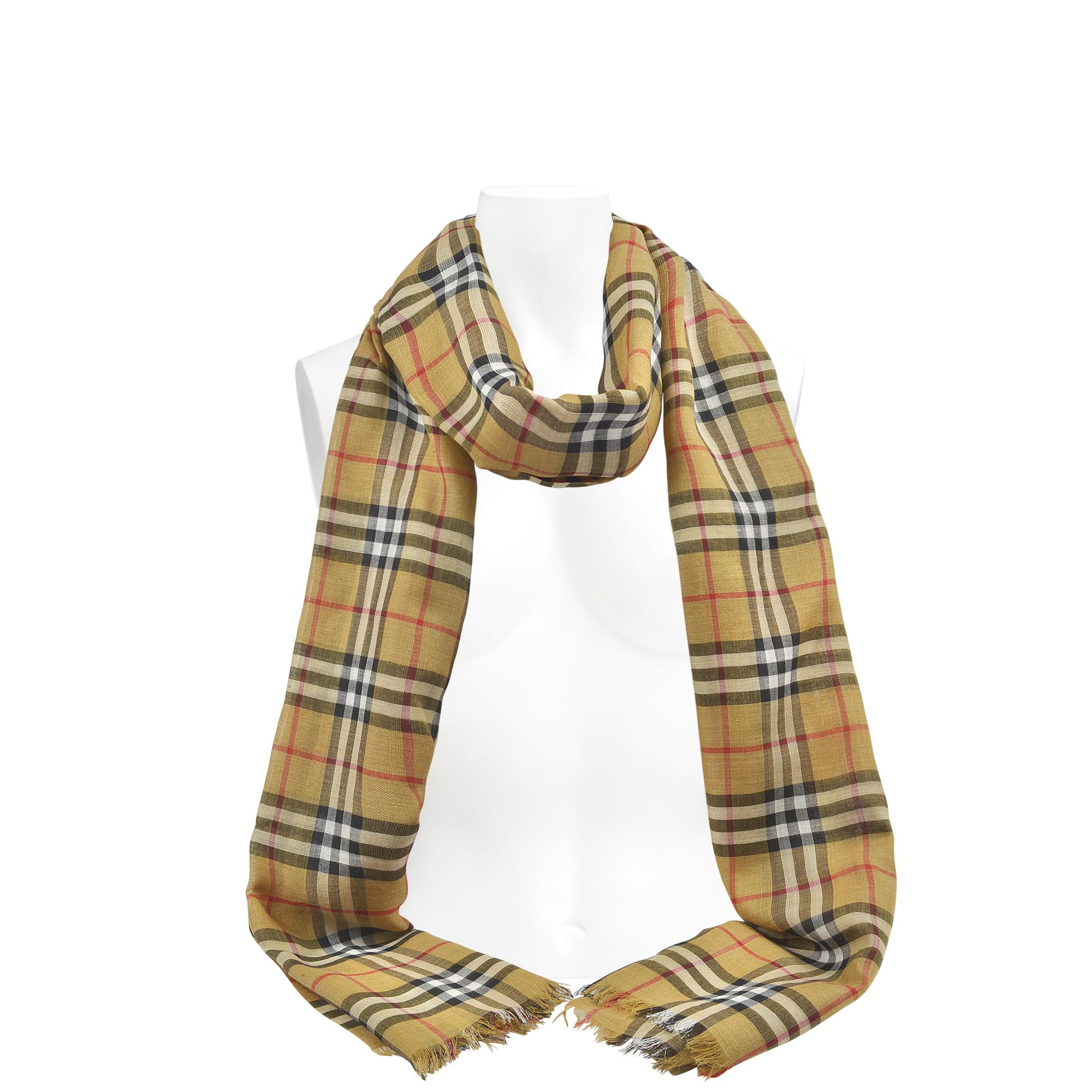220X70 Vintage Check Gauze Scarf in Bright Yellow Wool Burberry Sneakernews For Sale Cheap Price Free Shipping Geniue Stockist Cheap Price Fashion Style Cheap Price Hot Sale Cheap Online OrrtJ6v3