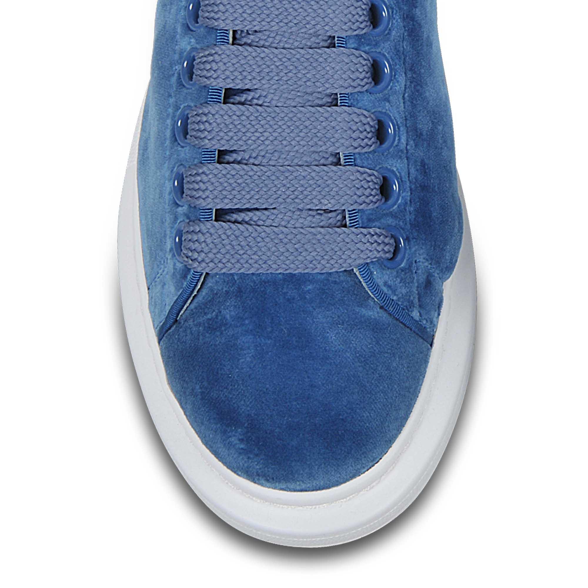 Alexander McQueen Velvet Sneakers in Blue - Lyst 79bb1d69fd