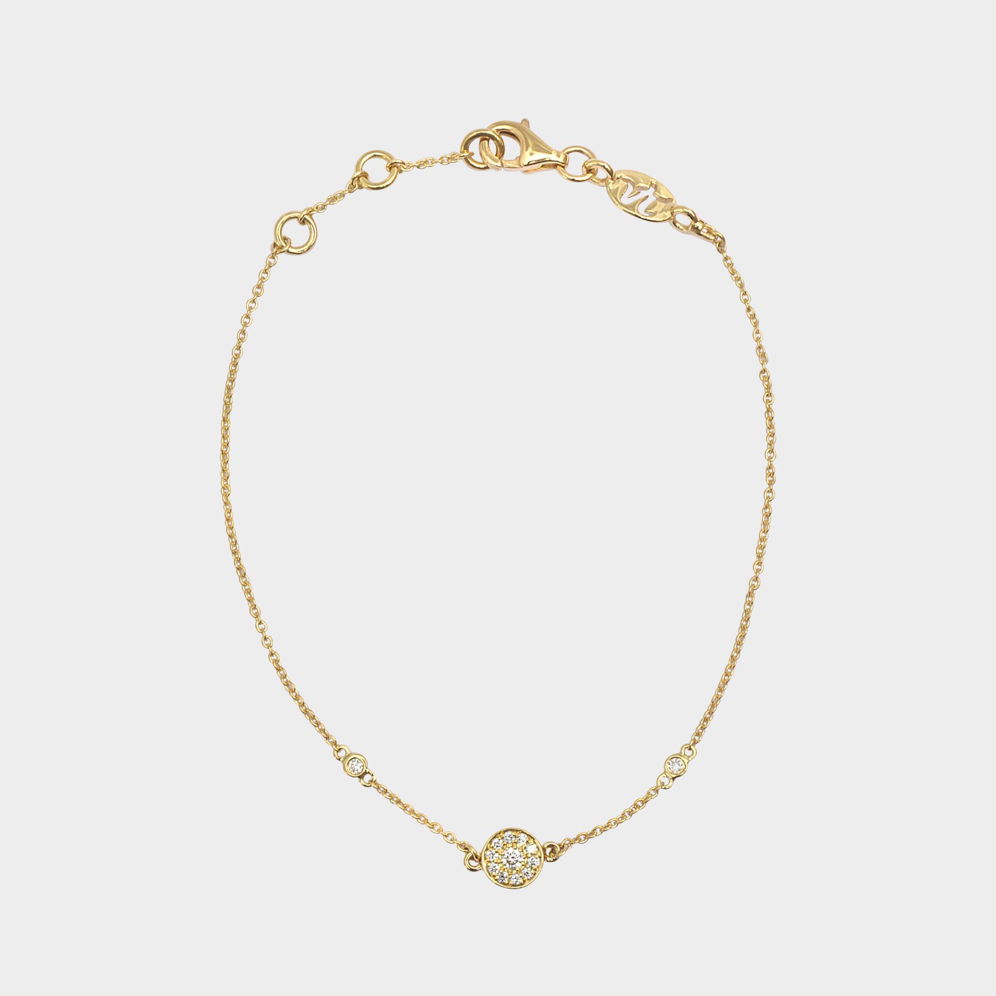 Or Jaune Et Bracelet Charme Diamant Rond Vanessa Tugendhaft X57pu9x5iF