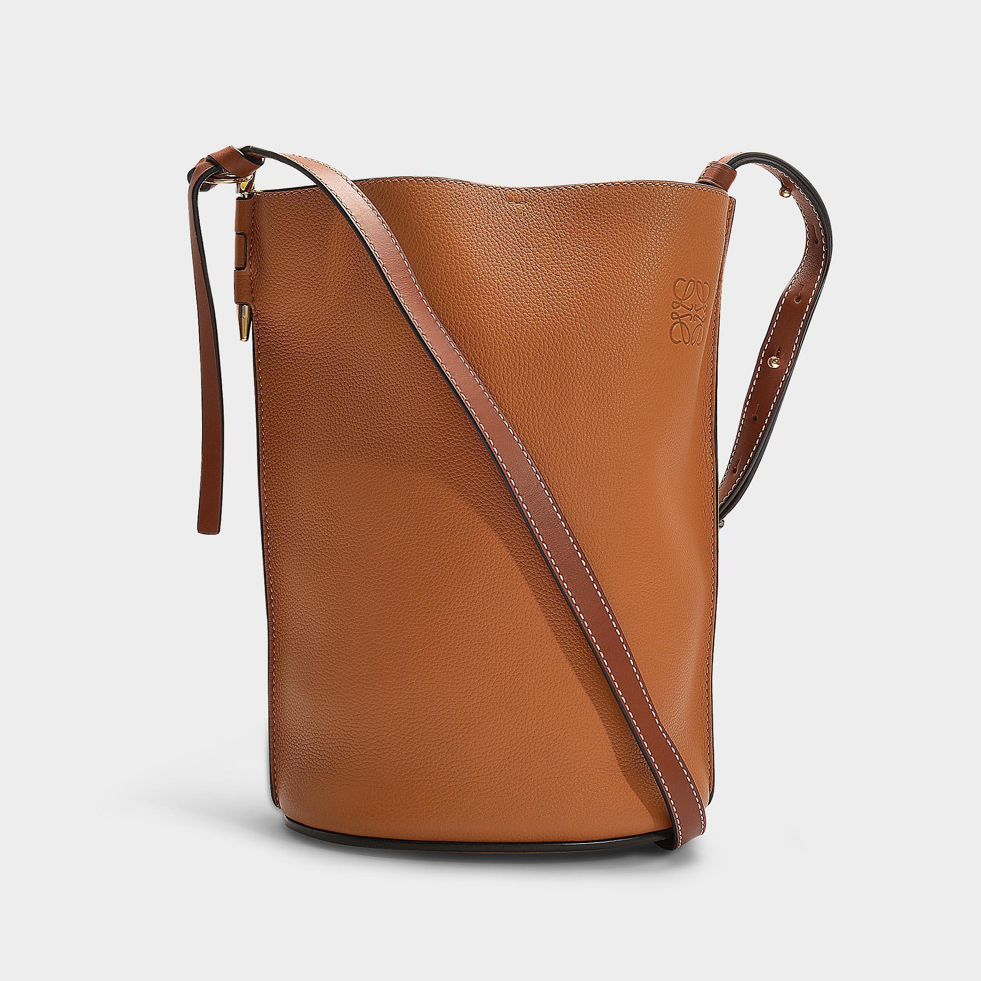 ceb4c6cc14a5 Lyst - Loewe Gate Bucket Bag In Brown Calfskin in Brown