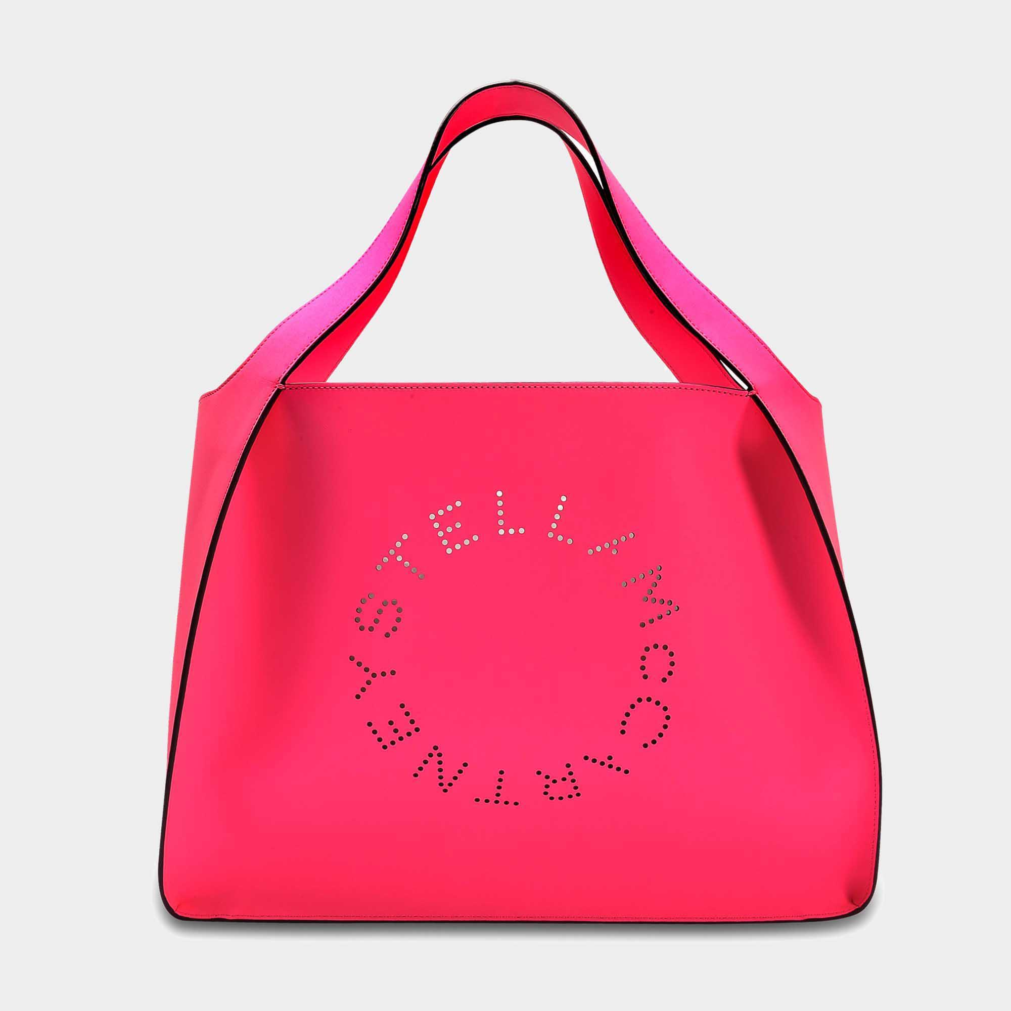 À Bas Prix Stella Mccartney Modifier Fourre-tout Nappa Fluo Sac Logo Stella En Coton Rose Fluo Et Cuir Écologique En Ligne Exclusif Faible Coût De Sortie Gi2NEA