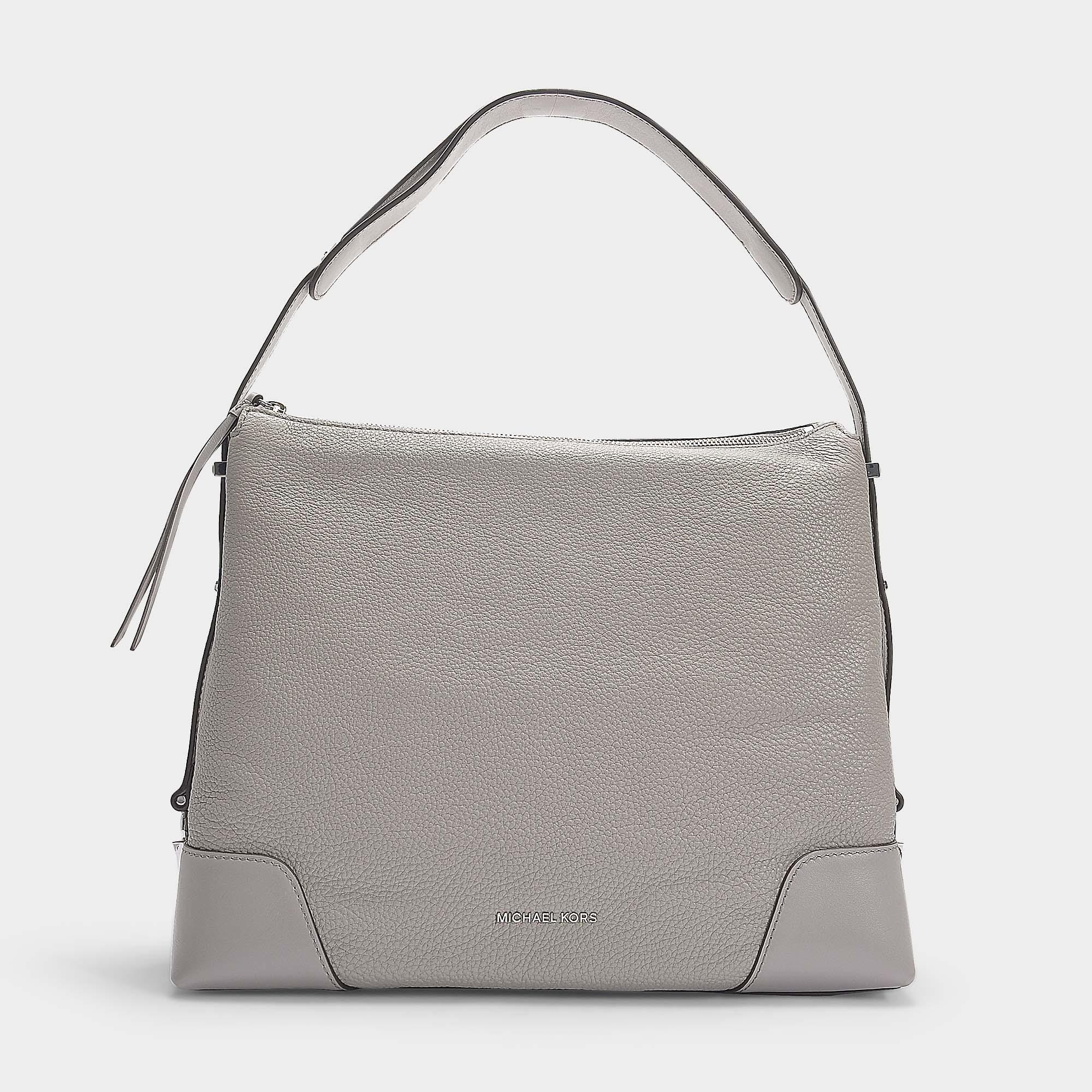 e192312e61 Michael Michael Kors Crosby Large Shoulder Bag In Pearl Grey ...