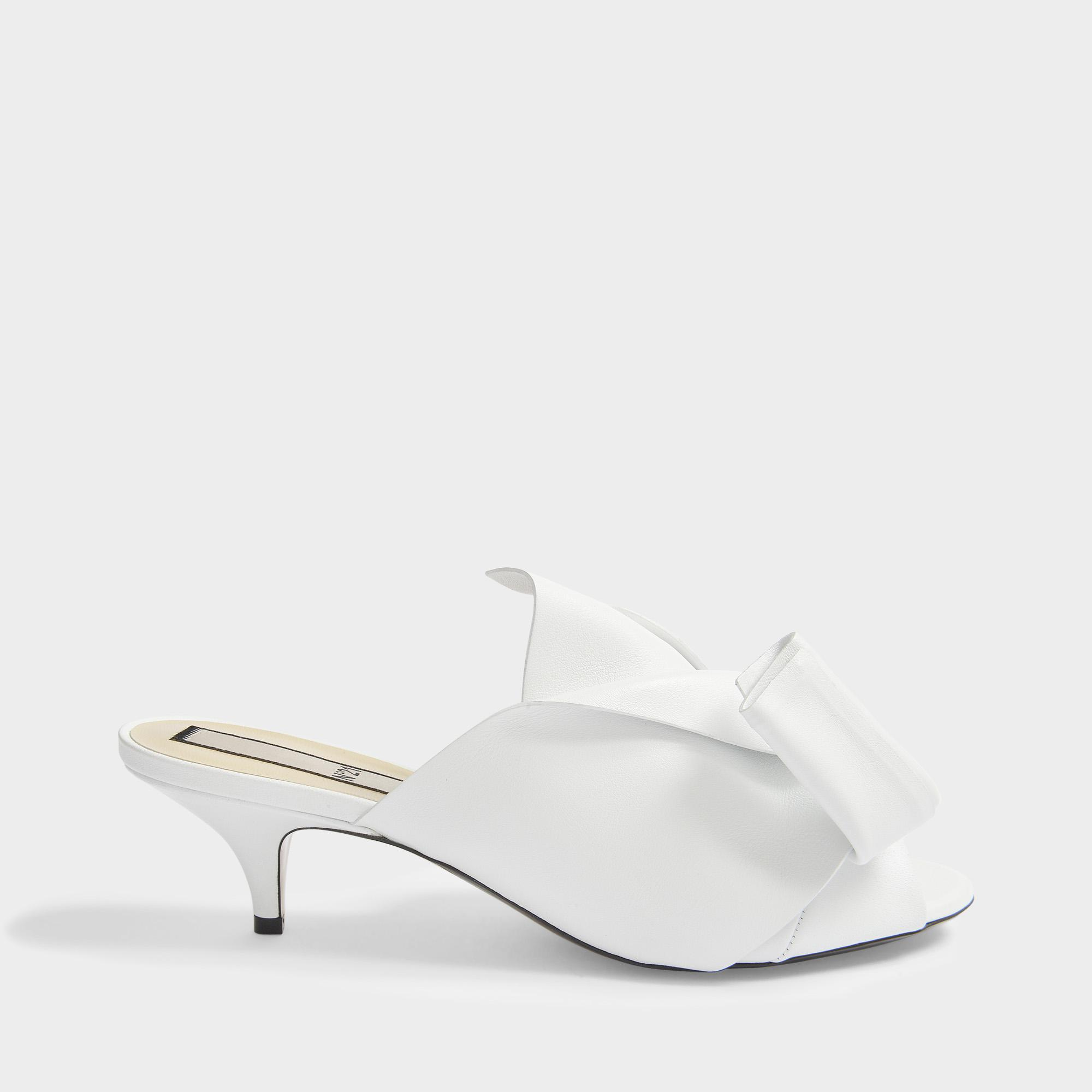 official photos ab33a 91f46 n21--Leather-Tie-Front-Mule-Shoes-In-White-Nappa-Leather.jpeg