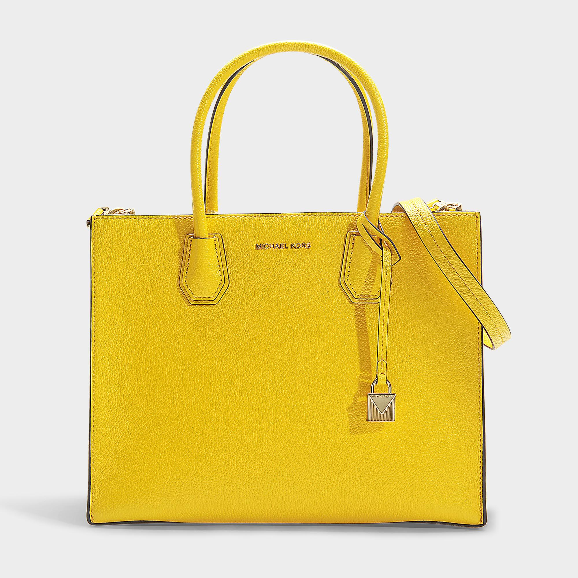 c838b96bdc MICHAEL Michael Kors. Women s Yellow Mercer Large Convertible Tote ...