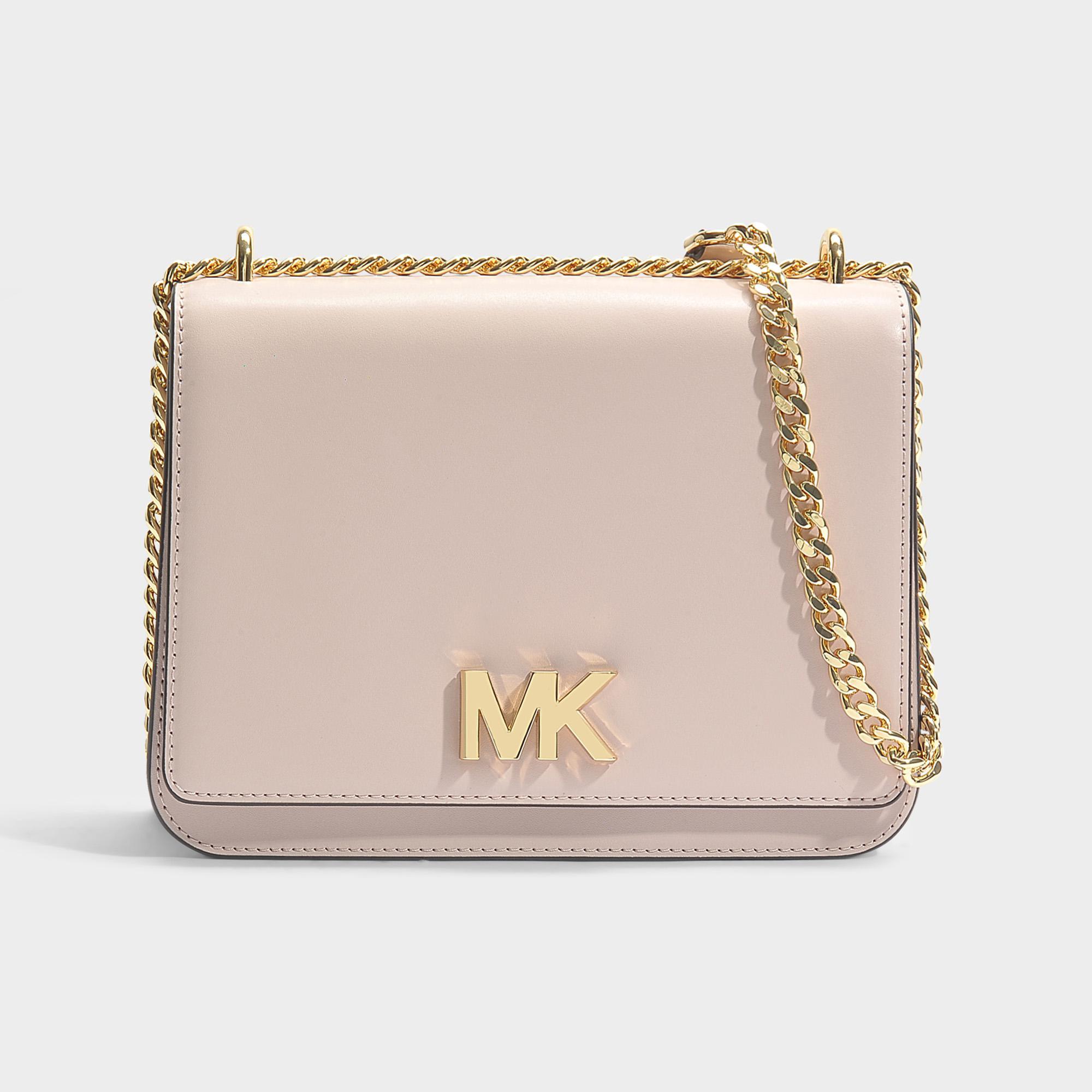 d9caee2c170c Lyst - MICHAEL Michael Kors Mott Large Chain Shoulder Bag In Soft ...