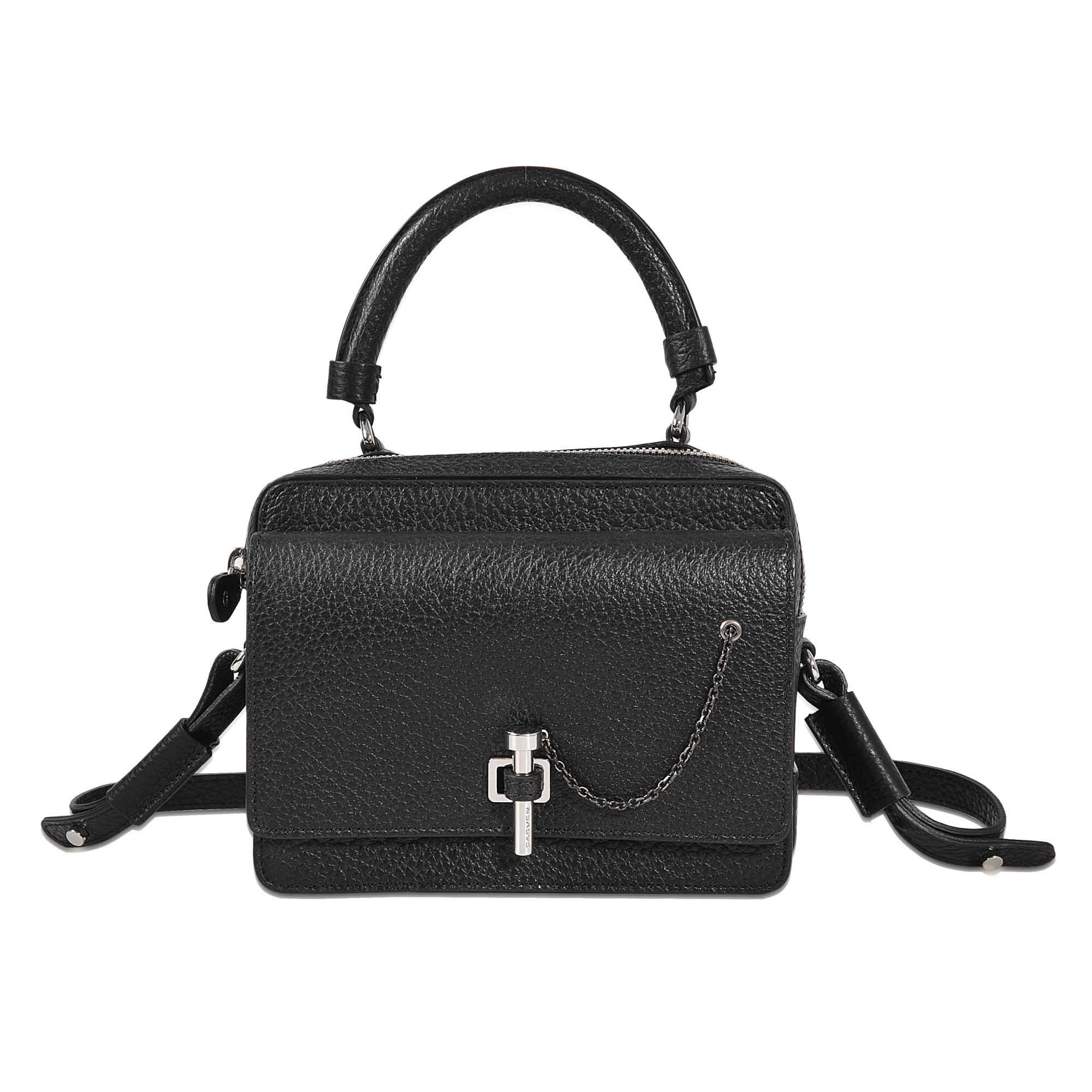 eab6f5fd8d Carven Mahler Bag Double Carry in Black - Lyst