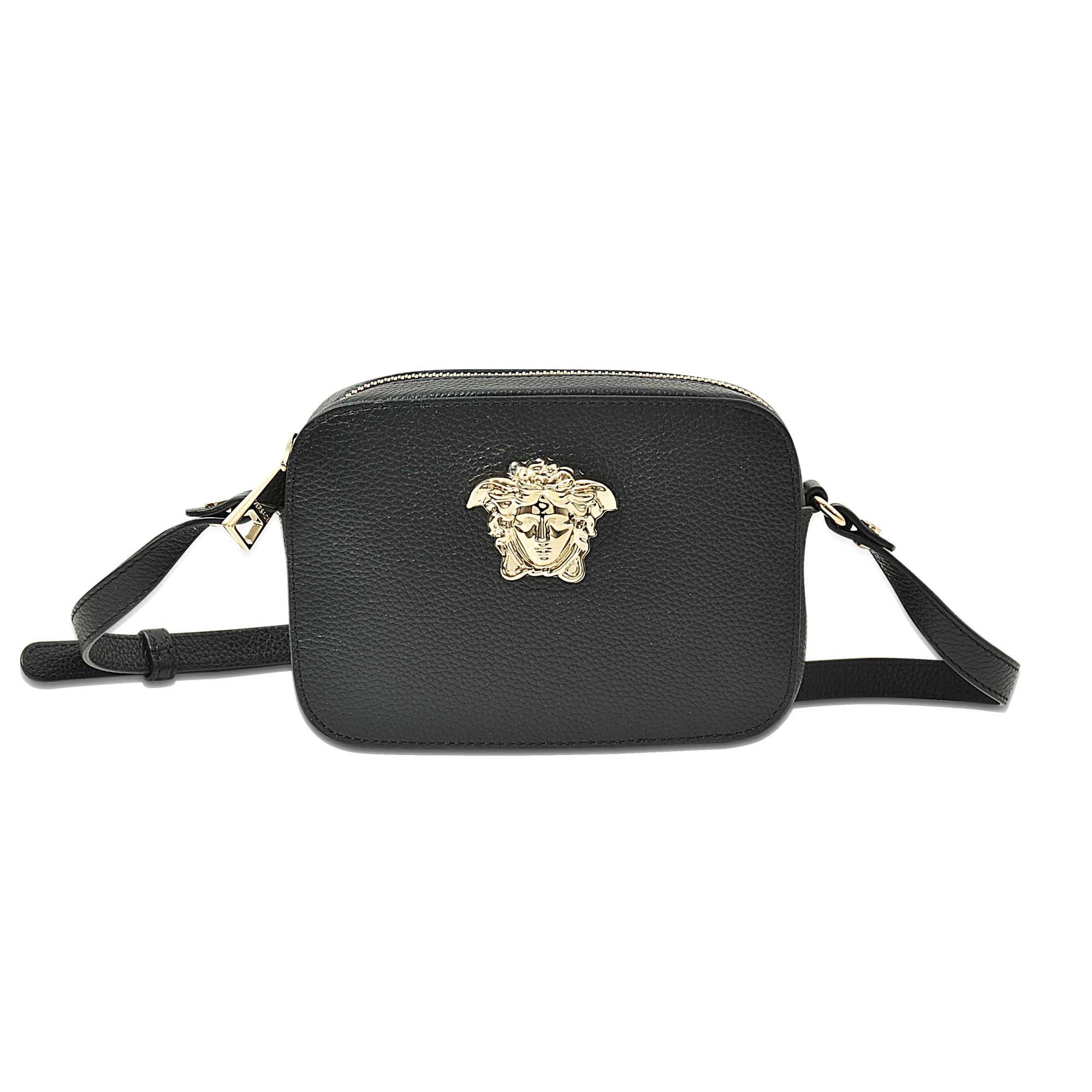 10c473dd56e0 Versace Camera Pouch in Black - Lyst