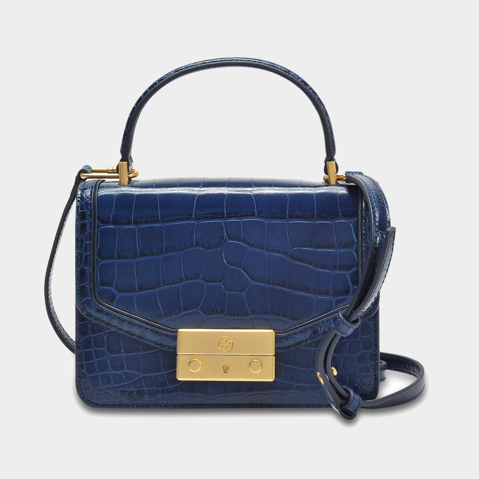 fc4f4d50819 Lyst - Tory Burch Juliette Croc Mini Top Handle Satchel Bag In Tory ...