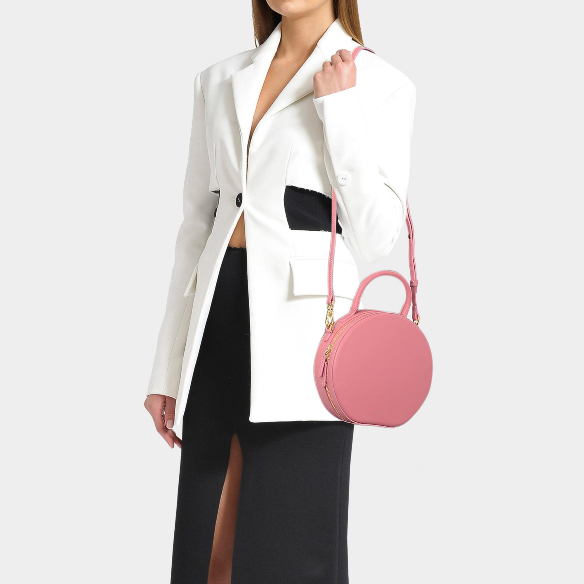 778baba9aa95 Lyst - Mansur Gavriel Circle Crossbody Bag In Pink Calfskin And ...