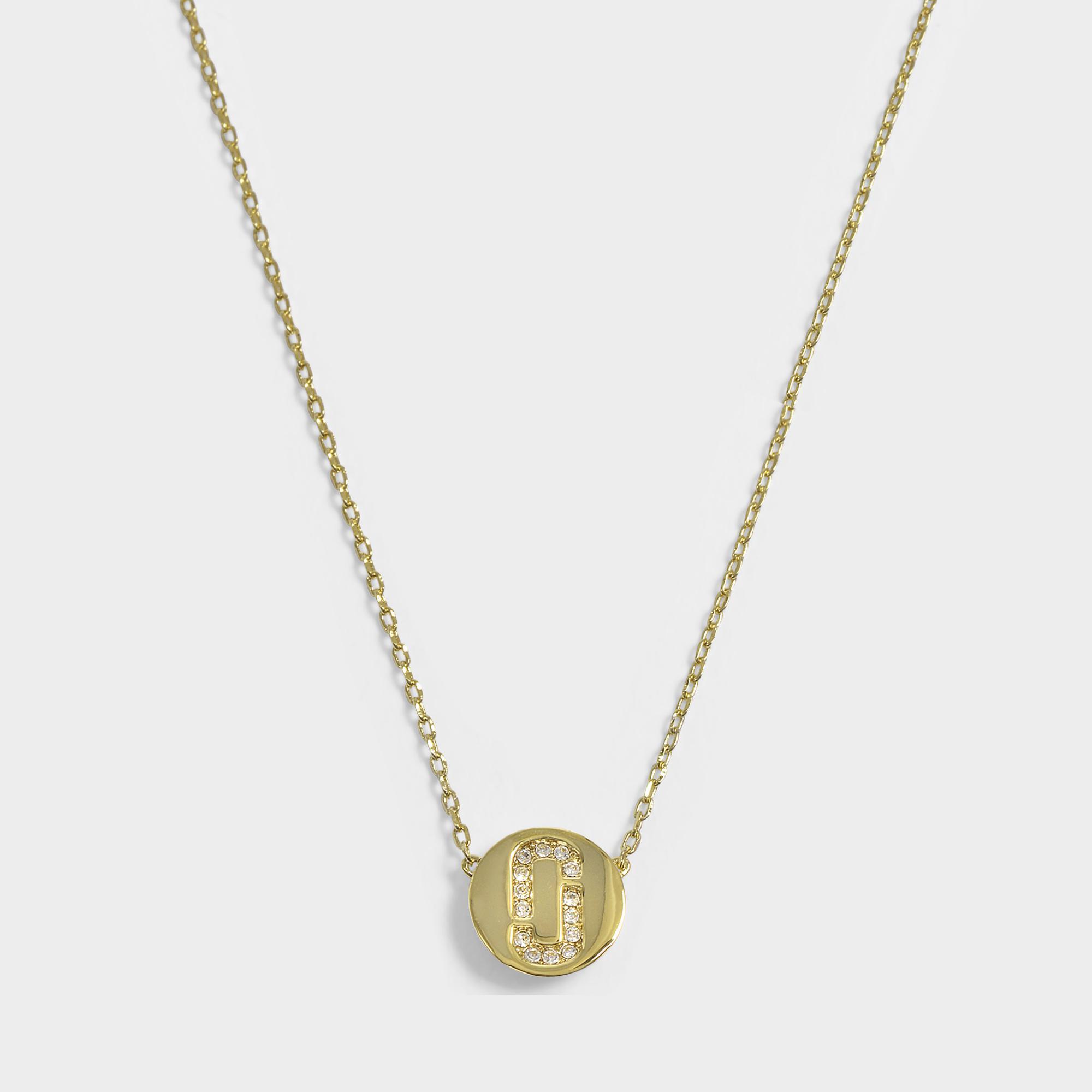 Marc Jacobs Double J Pave pendant necklace - Metallic u1QdJ8959e