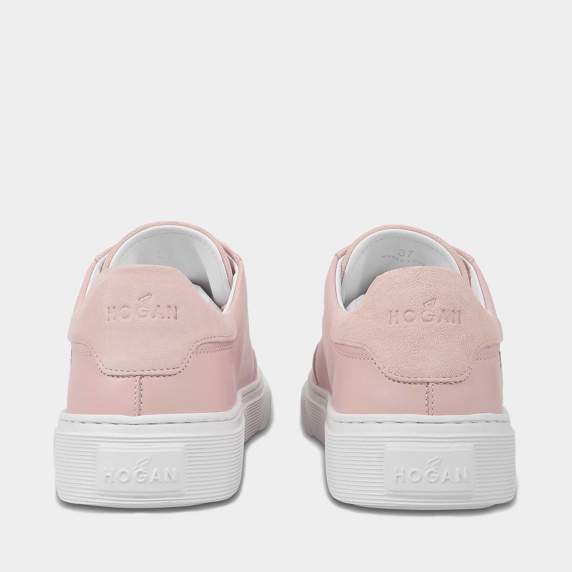 H258 Traditonal Suede Sneakers in Pink Leather Hogan o14SrADDfP