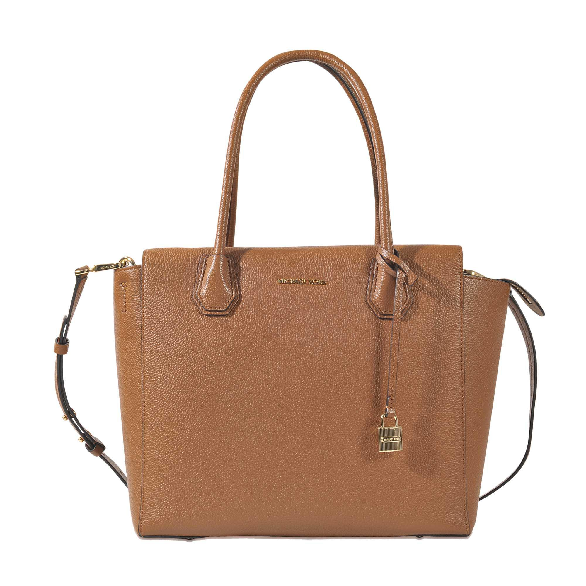 77f63510cd Lyst - Michael Michael Kors Mercer Large Satchel Bag in Brown