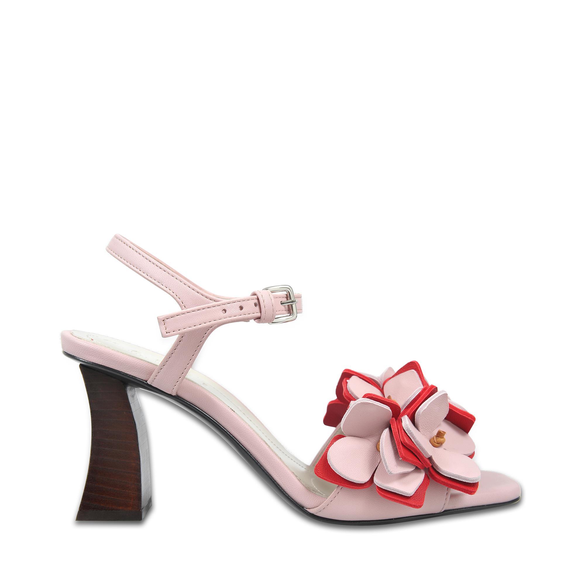 Flower Sandals in Light Pink Sheep and Calfskin Marni Sale Buy kaF4TjvF
