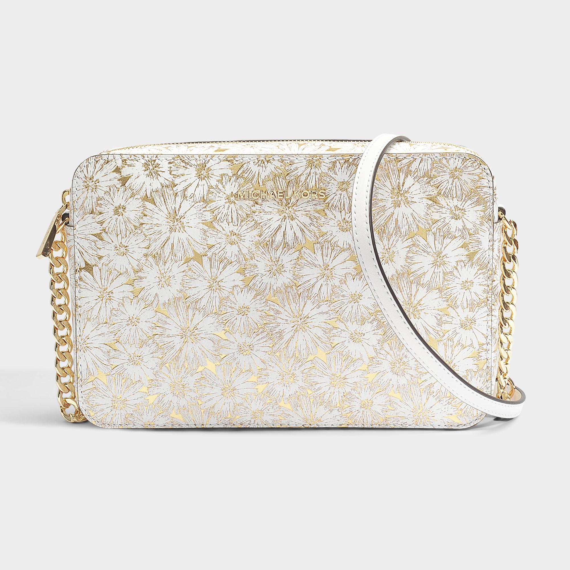 9dbdfe861a4b5 Michael Michael Kors Large East-west Crossbody Bag In Optic Gold ...