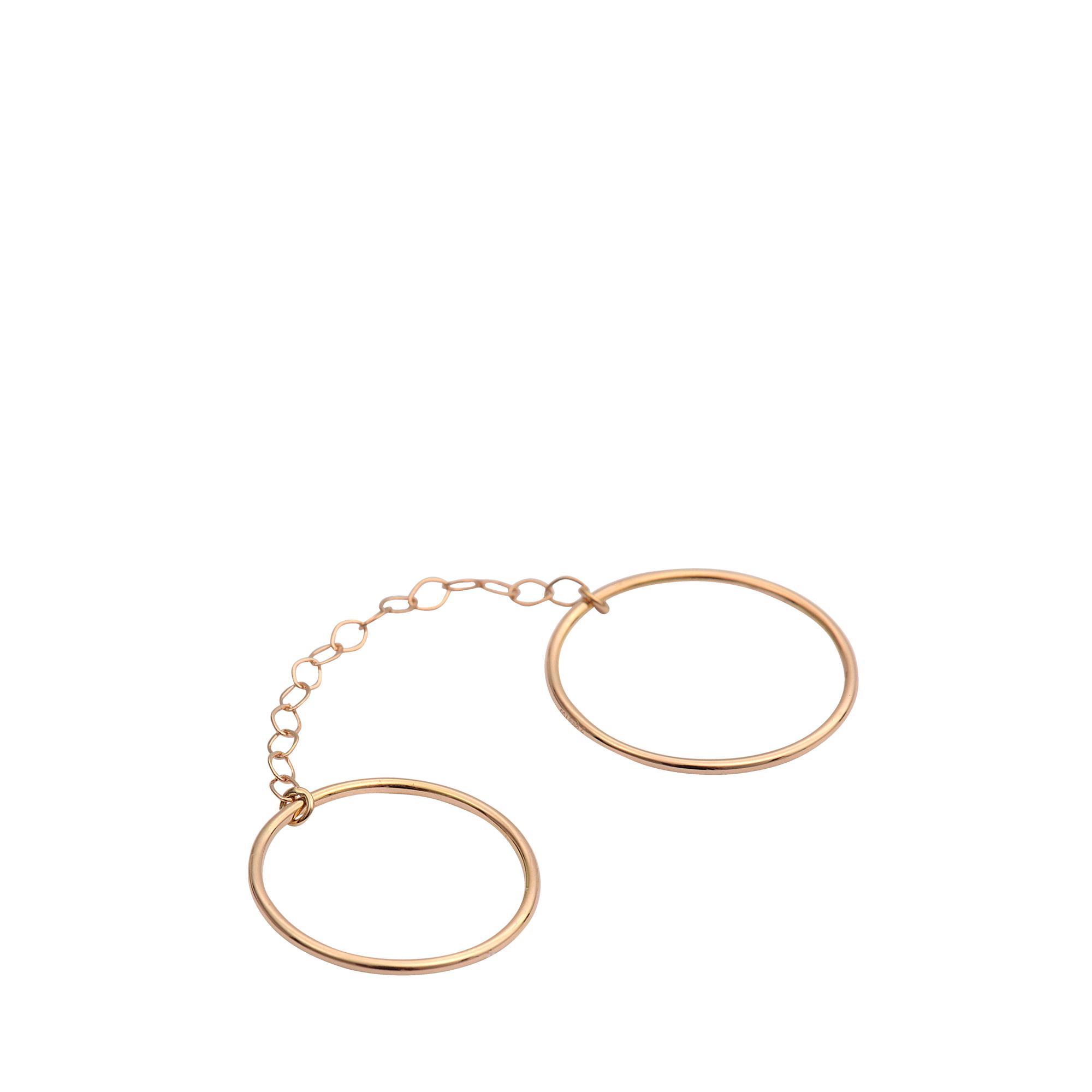 Ginette NY Circle Double 18-karat rose gold ring M4Px0U6w