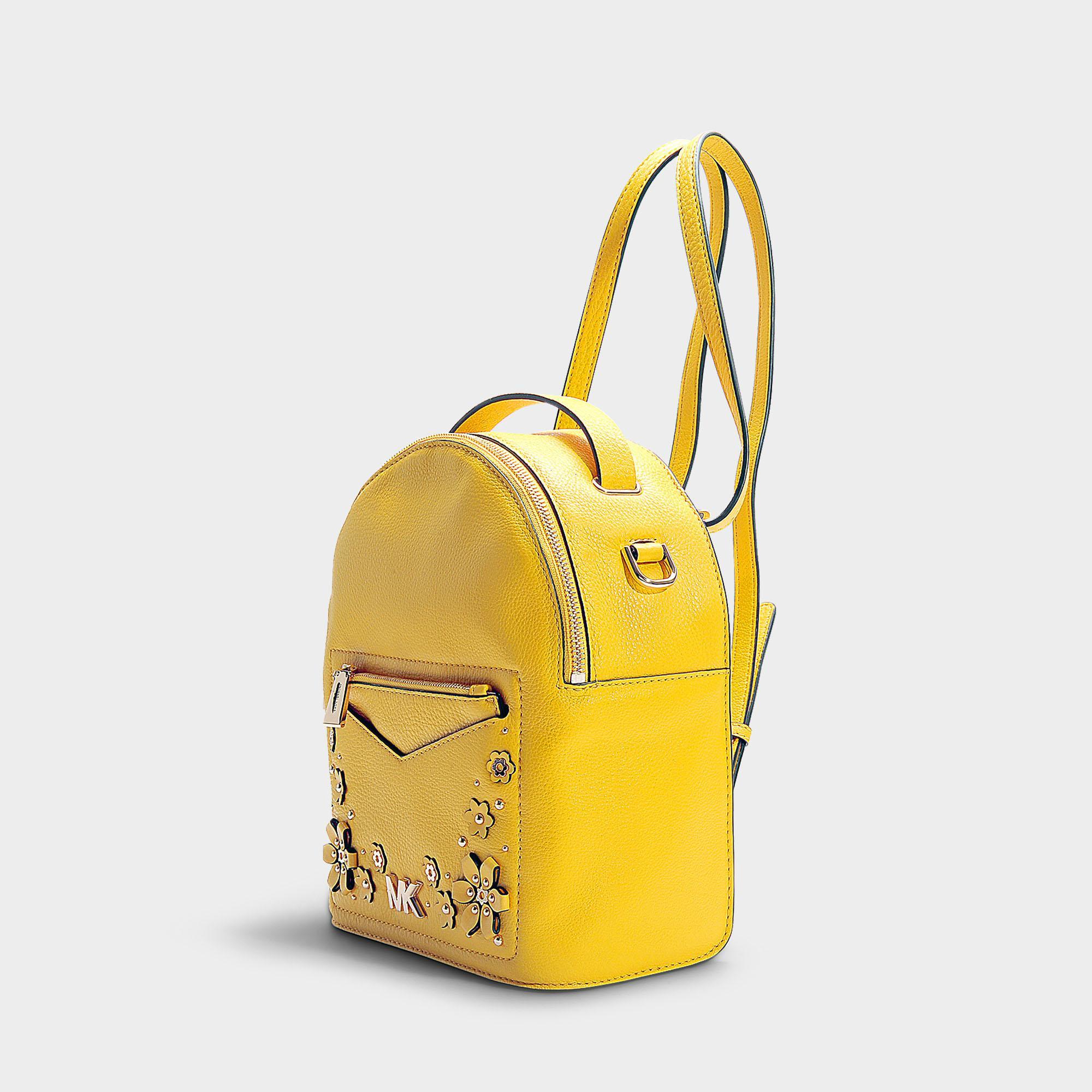 c0bae362334f07 MICHAEL Michael Kors Jessa Small Convertible Backpack In Sunflower ...