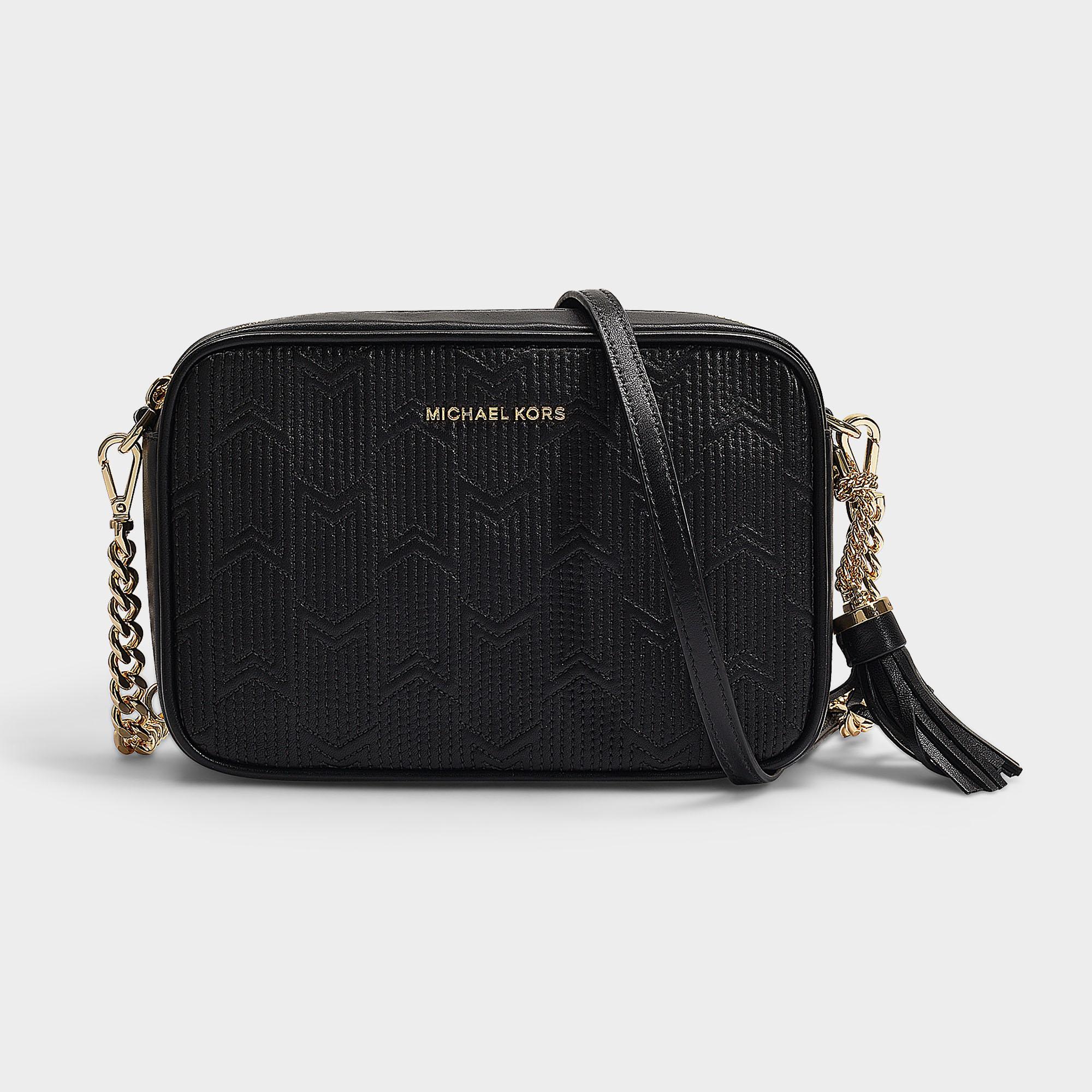 7ae318e79e7b MICHAEL Michael Kors Crossbodies Medium Camera Bag In Black Quilted ...