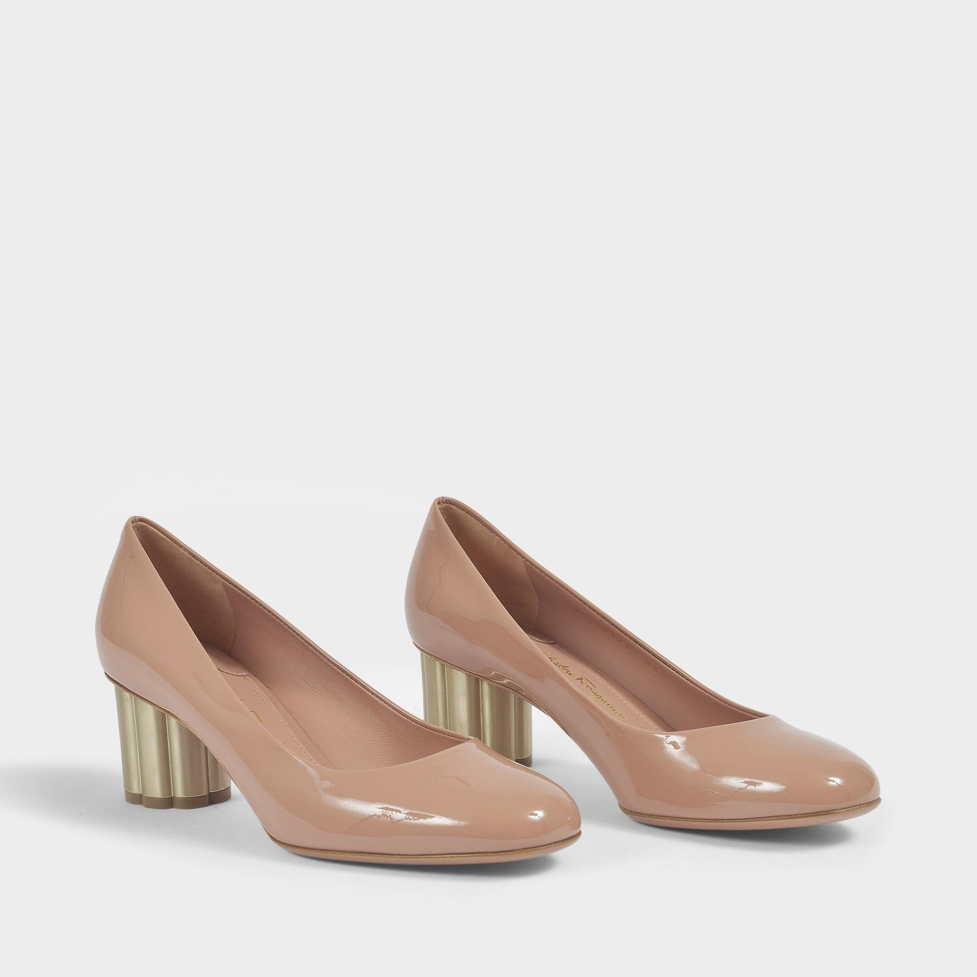 Clearance 100% Authentic Professional Sale Online Lucca 55 Patent Pumps in Dark Pink Patent Leather Salvatore Ferragamo Buy Cheap Geniue Stockist Buy Cheap Latest Collections Cheap Original FldNg