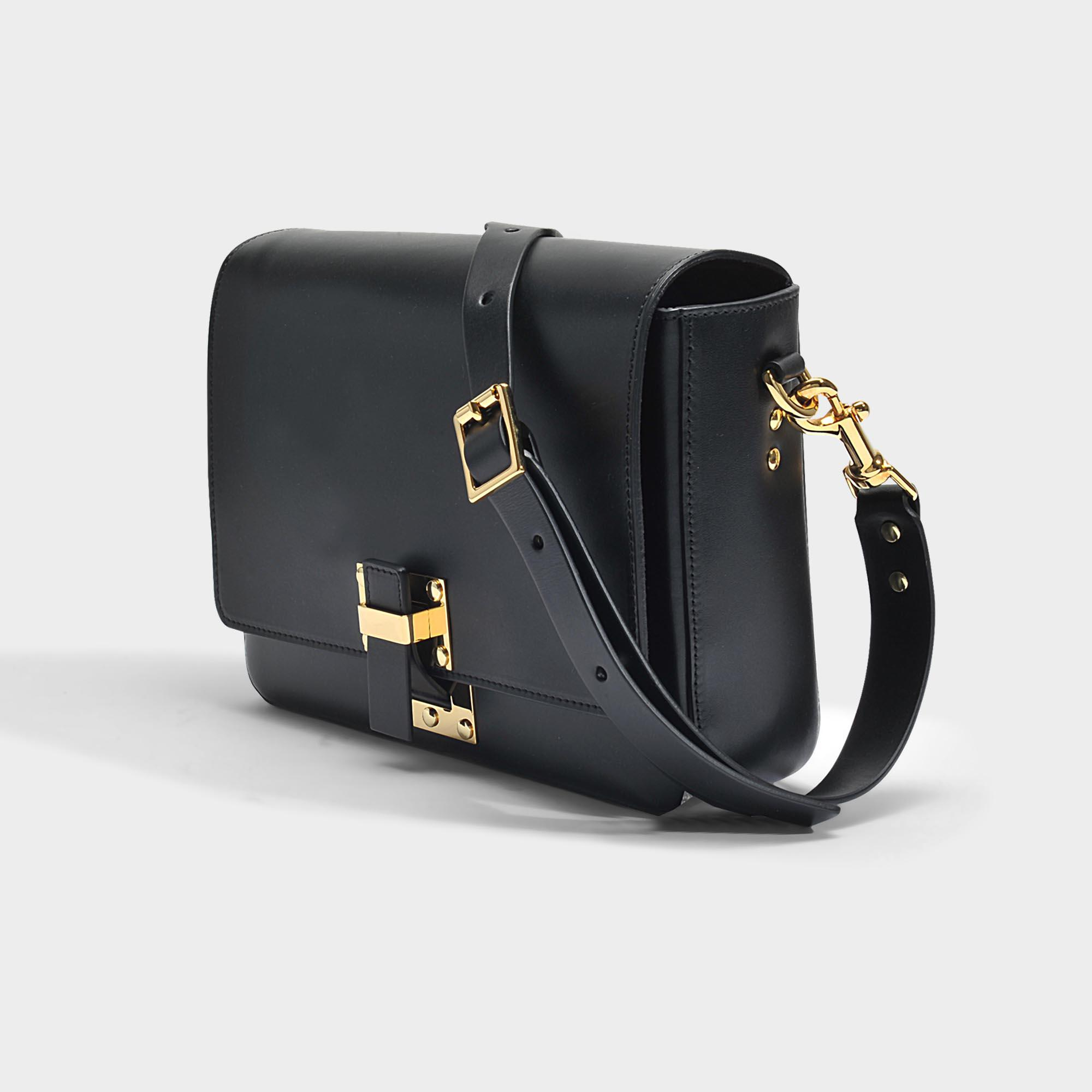 The Quick Large Bag in Black Cow Leather Sophie Hulme HhI8k