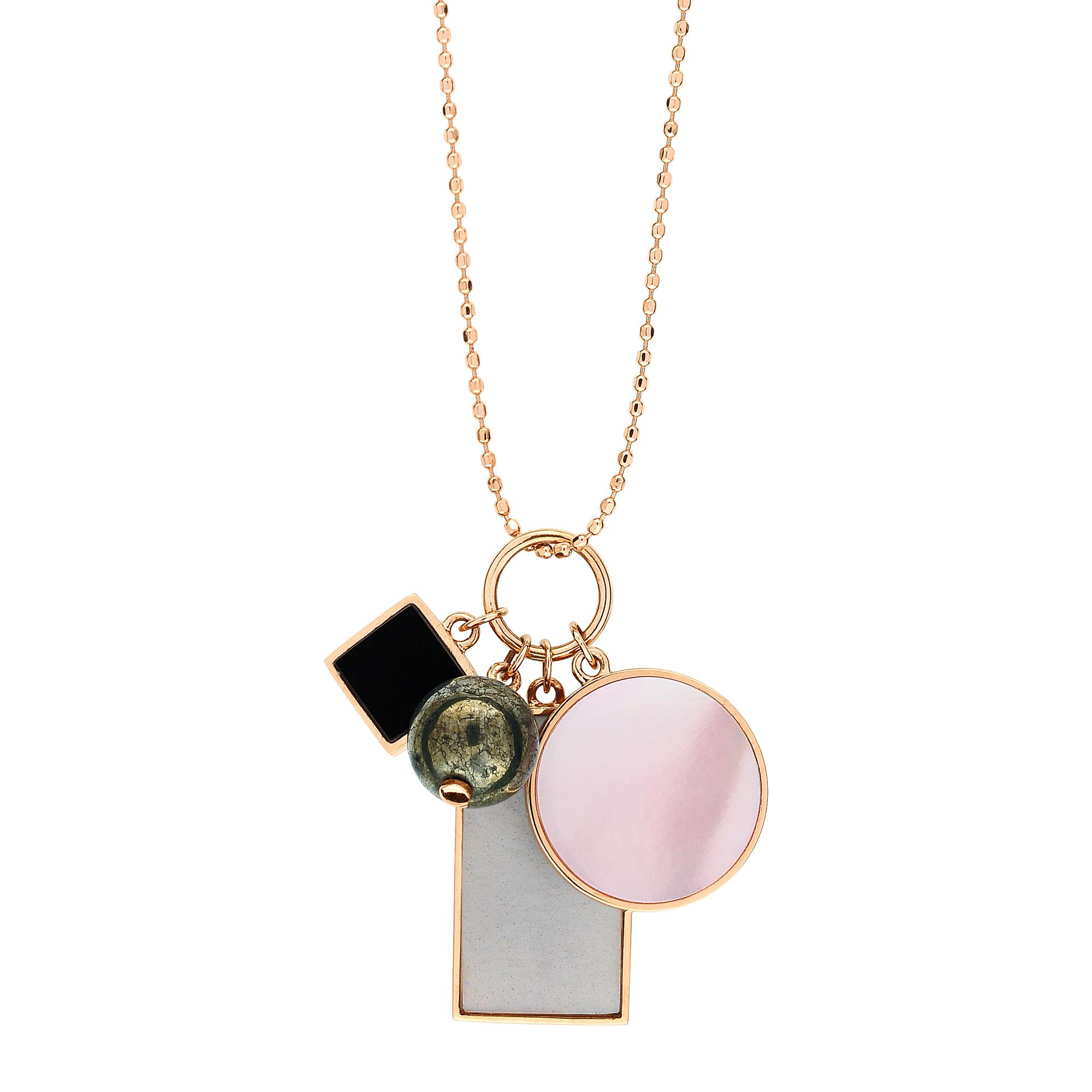 Mini Diamond Ever Square 18-karat rose gold necklace Ginette NY oxPMRutP