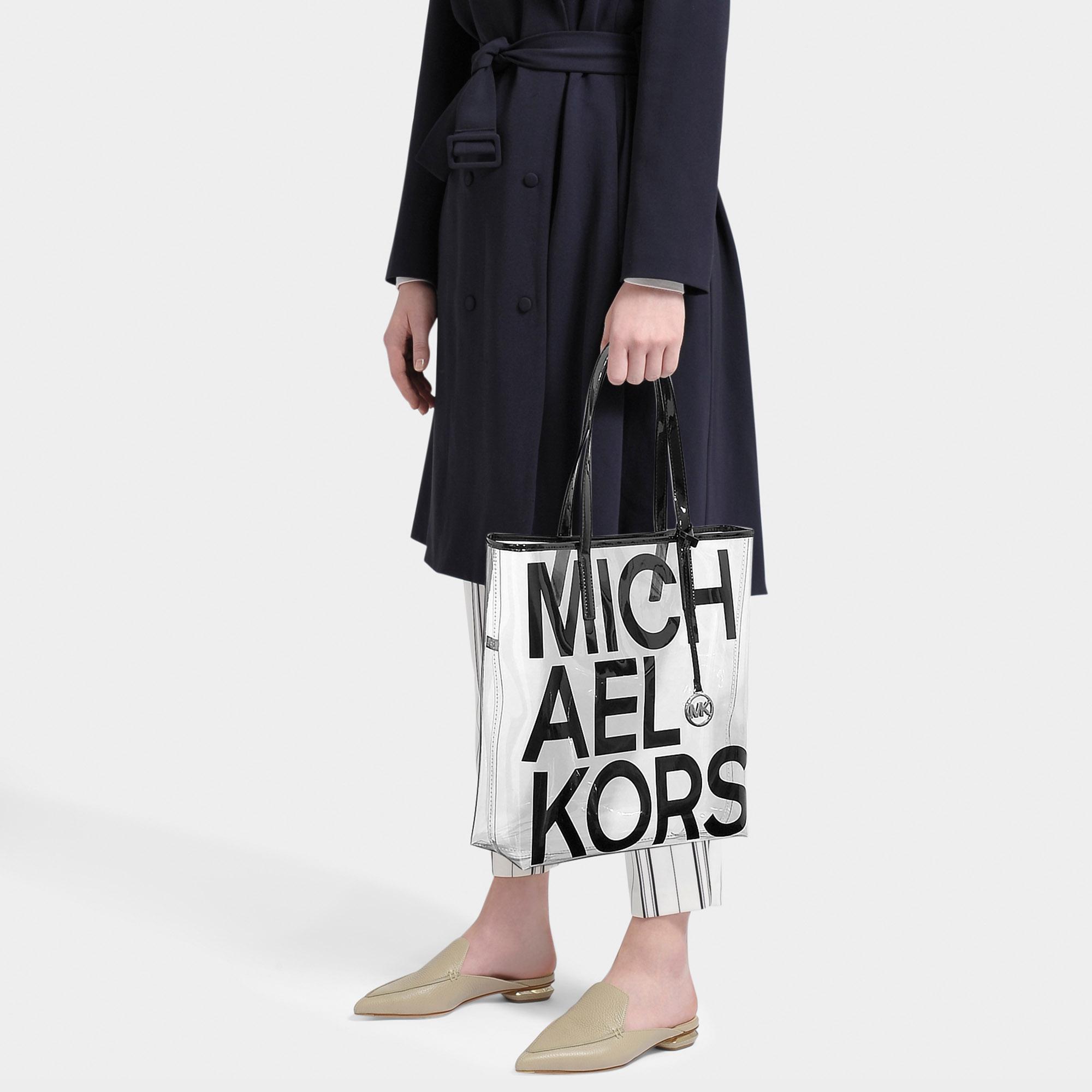 974480fdc1b583 Michael Kors - Black Michael The Michael Bag Large North South Tote - Lyst.  View fullscreen