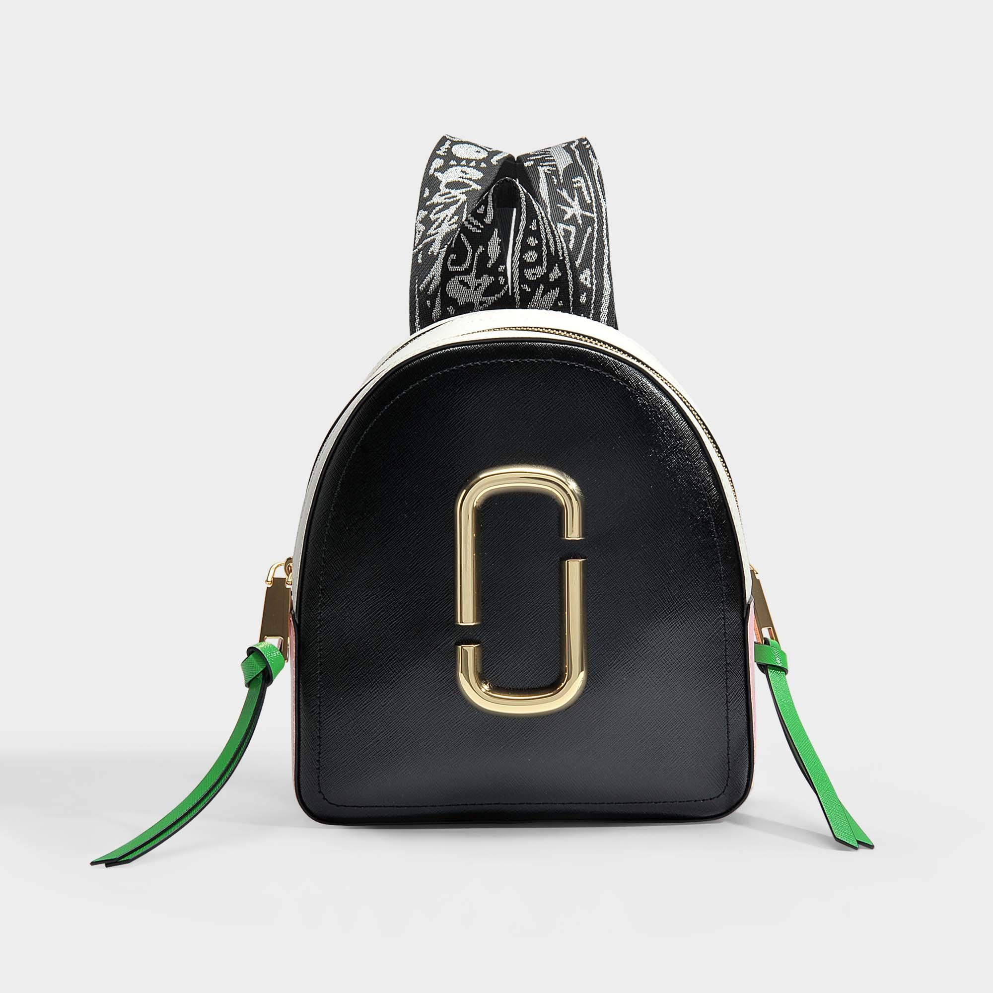 84b66d3188 Marc Jacobs. Sac à Dos Pack Shot en Cuir de Veau avec Revêtement en Polyuréthane  Noir ...