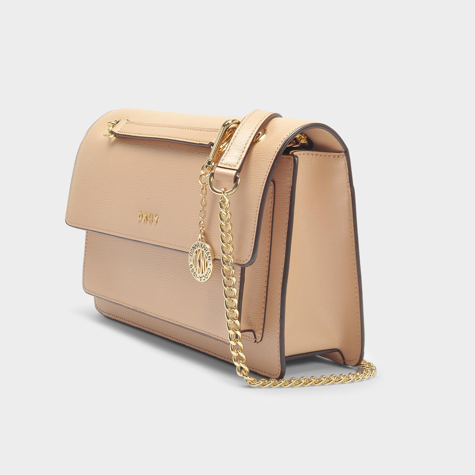8e1259049af DKNY Bryant Large Chain Flap Crossbody Bag In Egg Nog Sutton ...