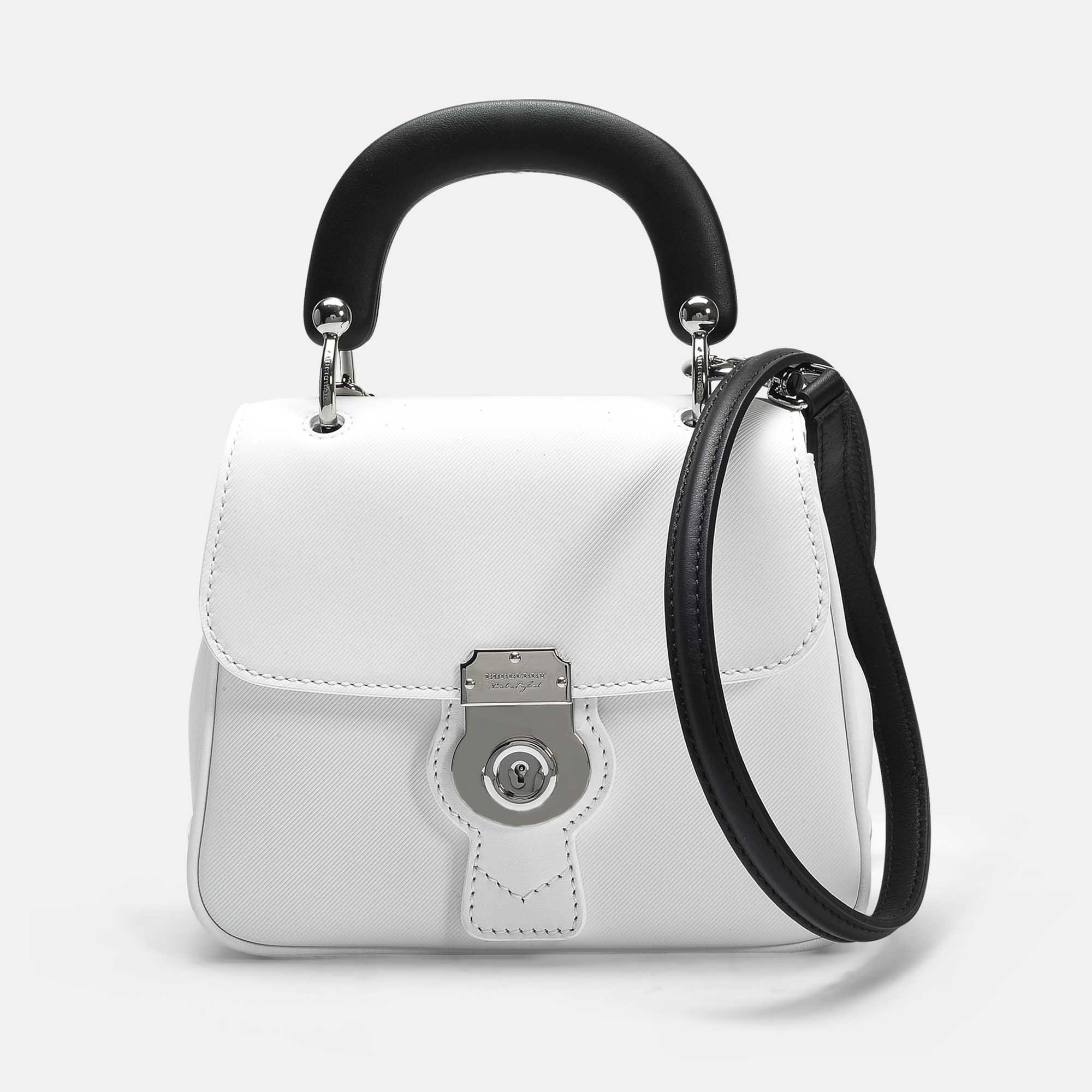 Discount Great Deals Pictures Small DK88 Top Handle Bag in Silver Embossed Calfskin Burberry Cheap Discount Sale Cheap 100% Authentic Clearance 100% Original 4IlS2l