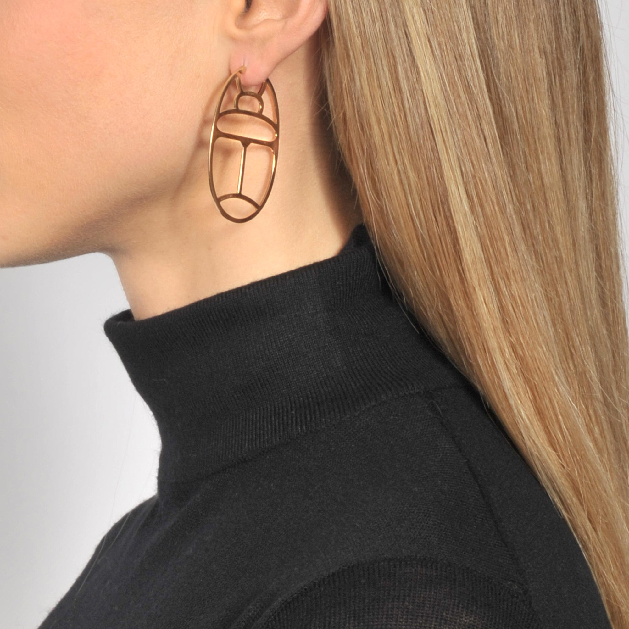 Ginette NY Large Wish hoop earrings ZEbpCXveK