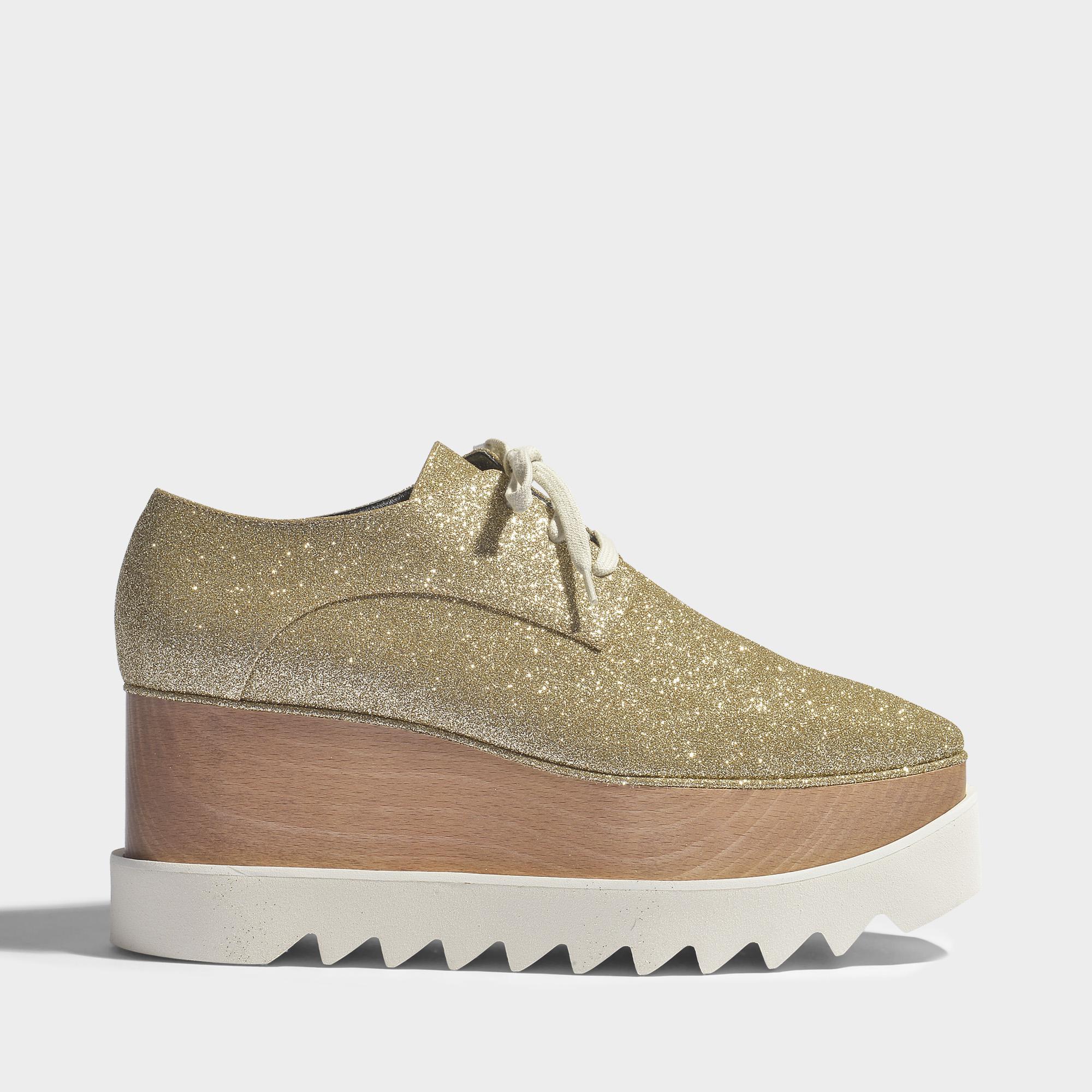 pretty nice 9f139 dd5c9 stella-mccartney-Metallic-Elyse-Platform-Shoes -In-Light-Gold-Synthetic-Fabric.jpeg