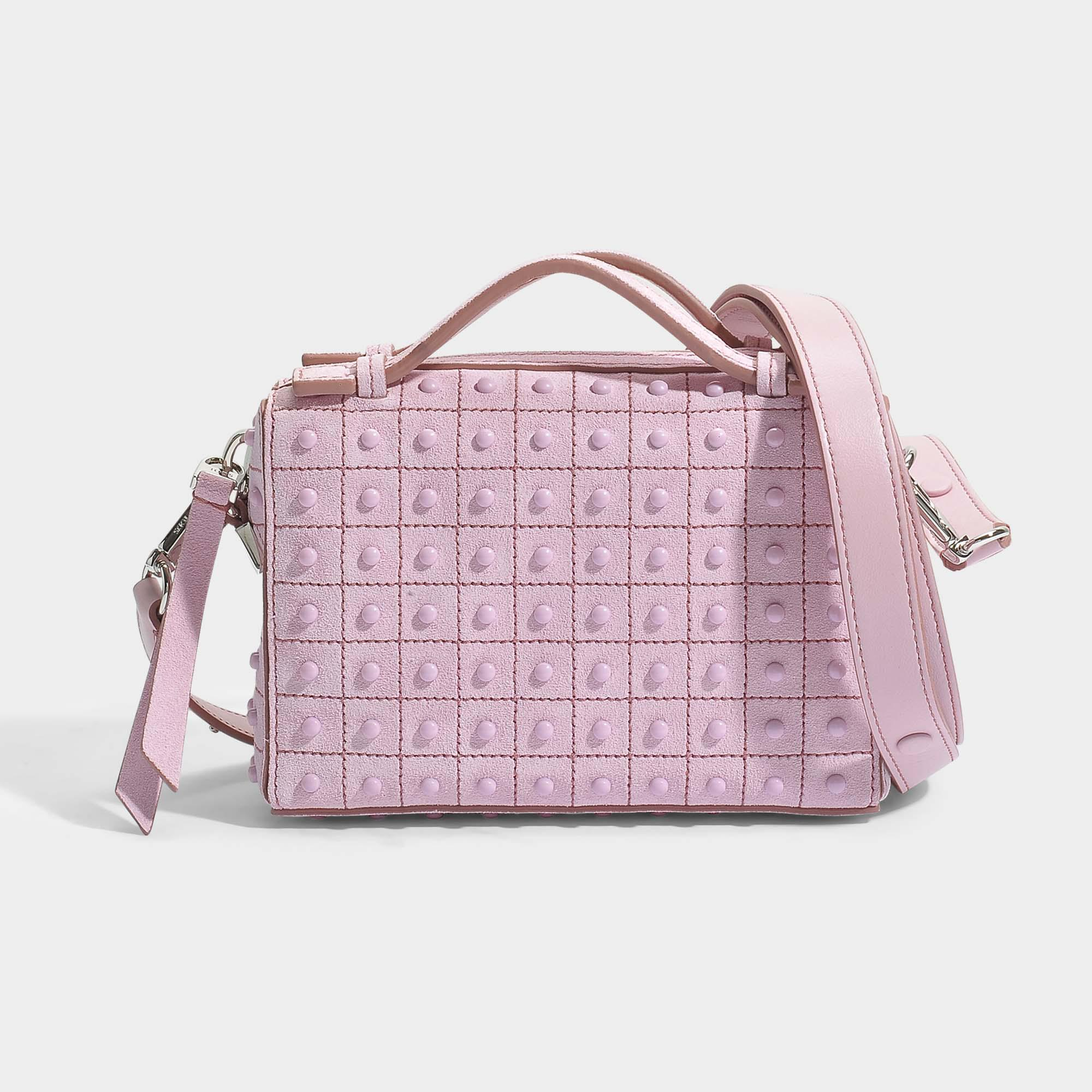 1ec52f38d7a Tod's Don Bauletto Micro Gommini Bag in Pink - Lyst