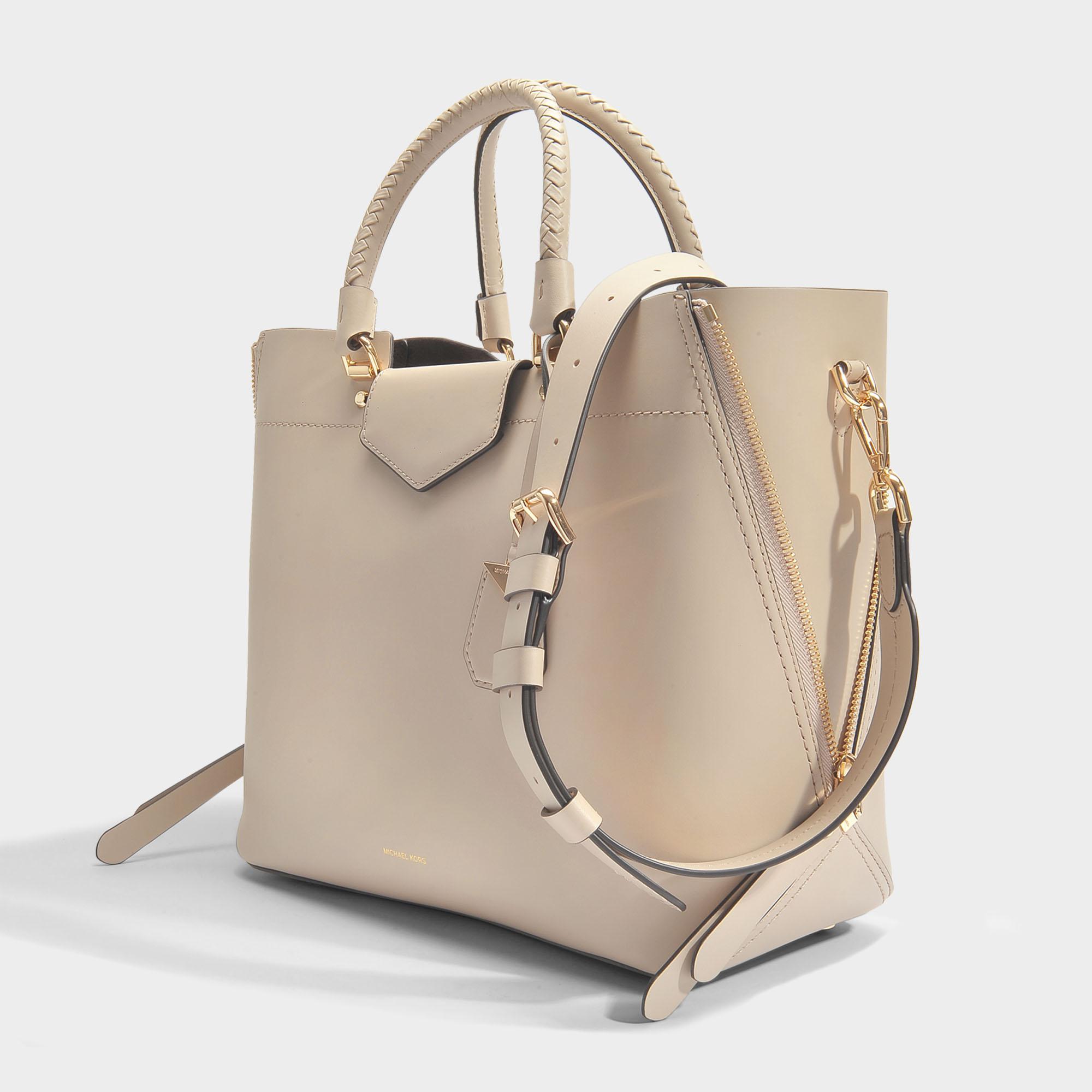 7699255aaa71 MICHAEL Michael Kors Blakely Large Tote Bag In Oat Viola Leather - Lyst